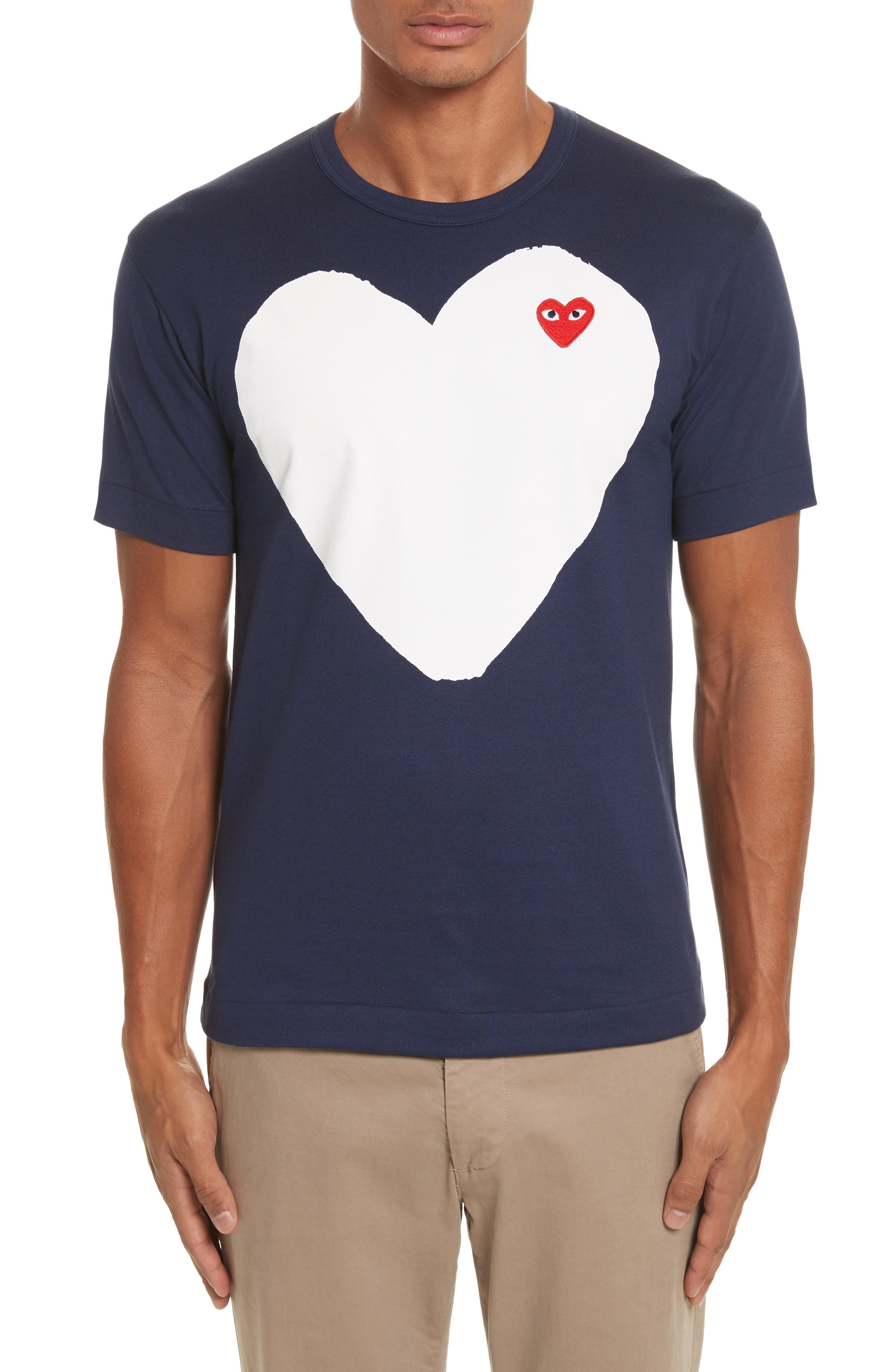 PLAY Graphic Patch T-Shirt,                         Main,                         color, Navy
