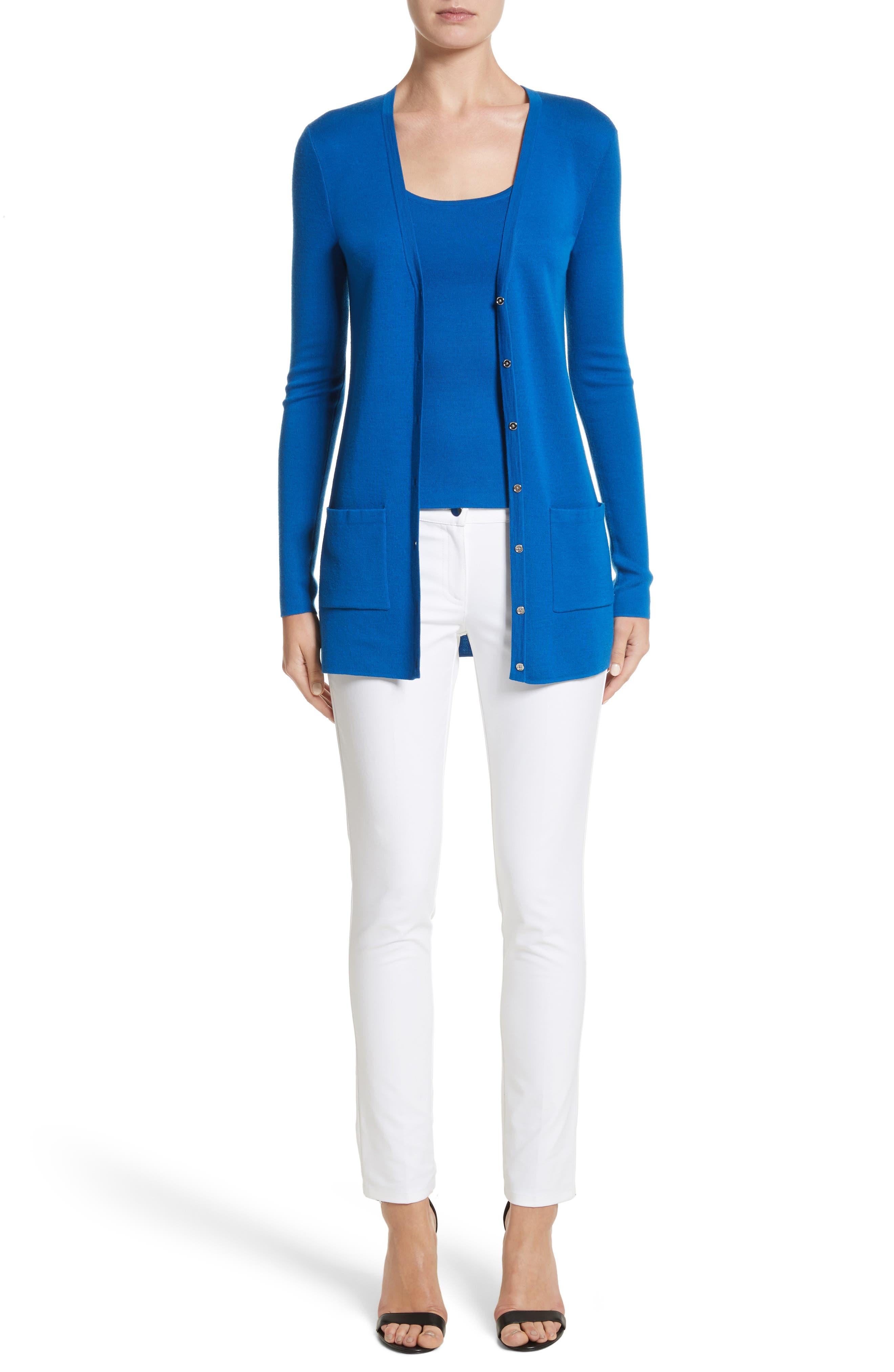 Alternate Image 7  - Michael Kors Samantha Skinny Jeans (Optic White)