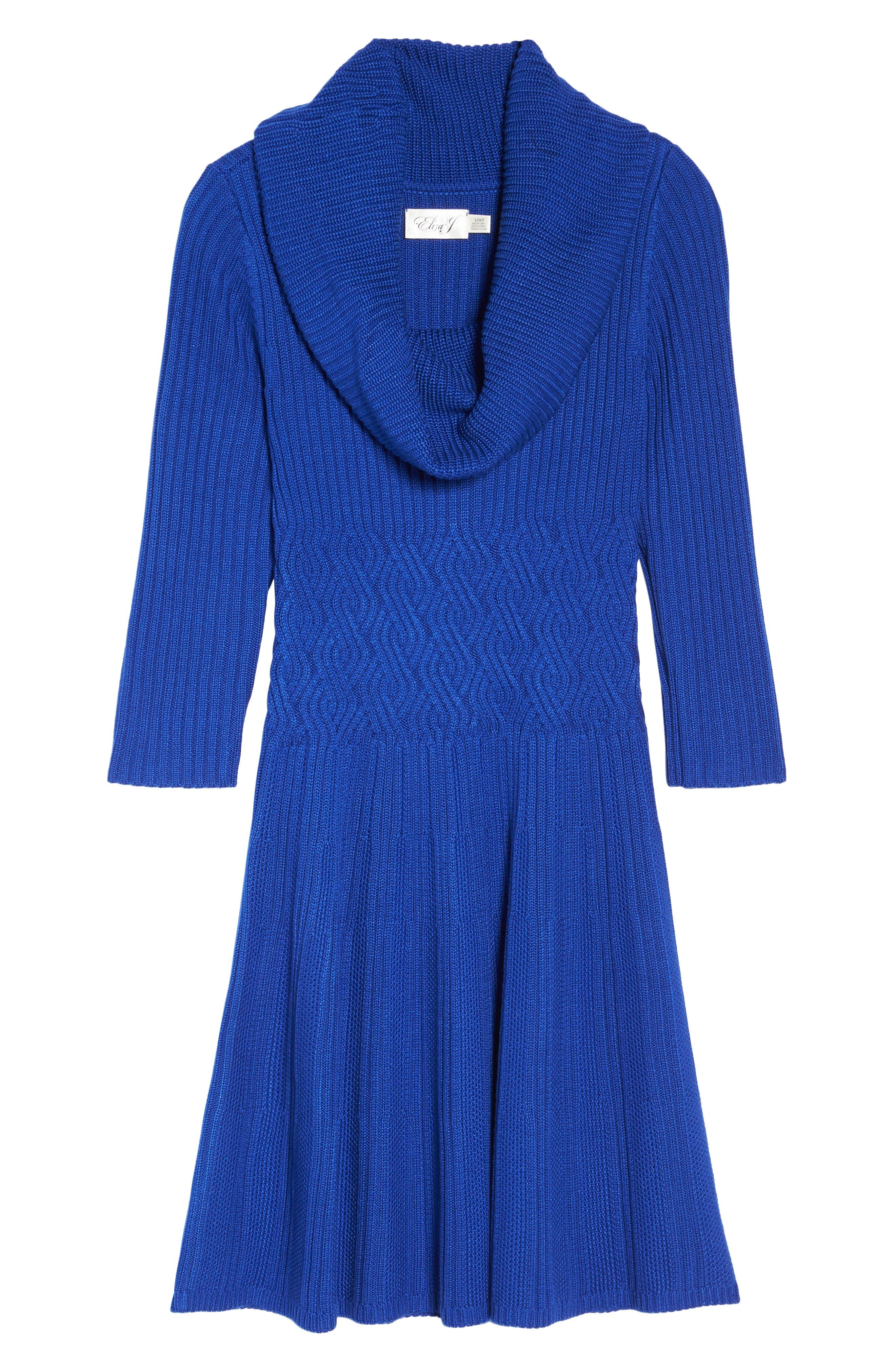 Alternate Image 6  - Eliza J Cowl Neck Sweater Dress