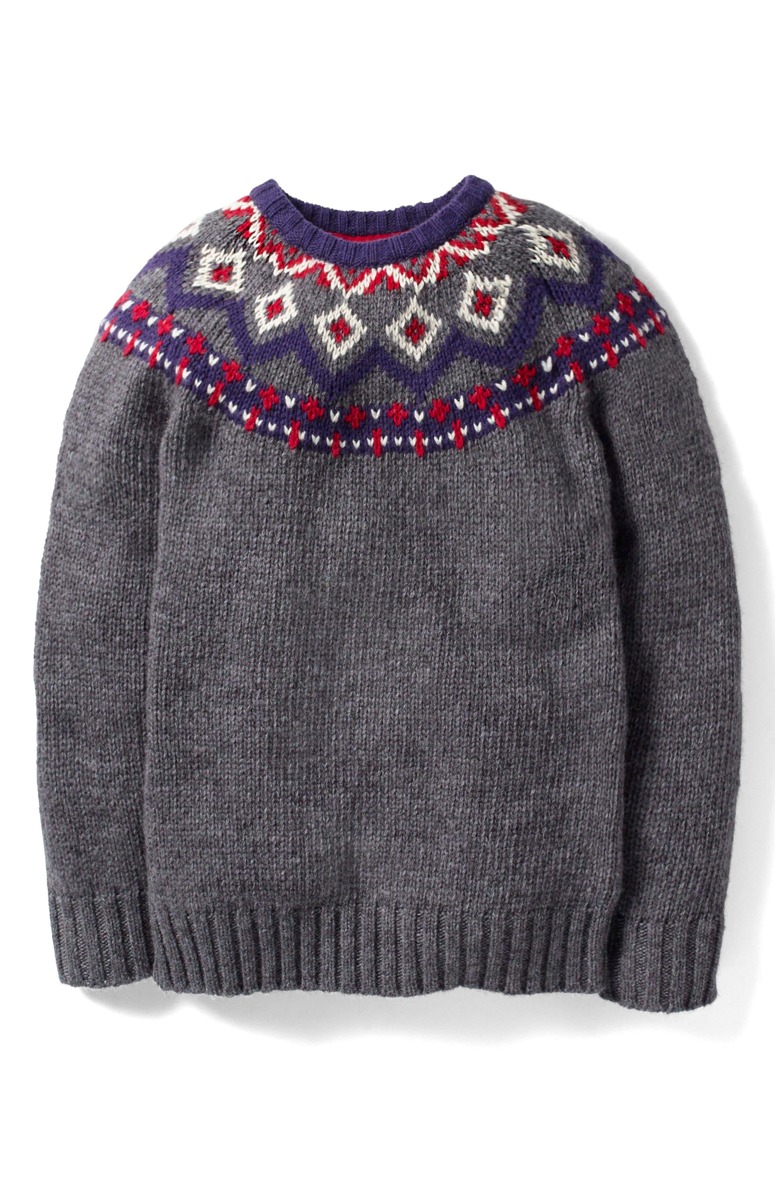 Mini Boden Fair Aisle Wool Sweater (Toddler Boys, Little Boys & Big Boys)