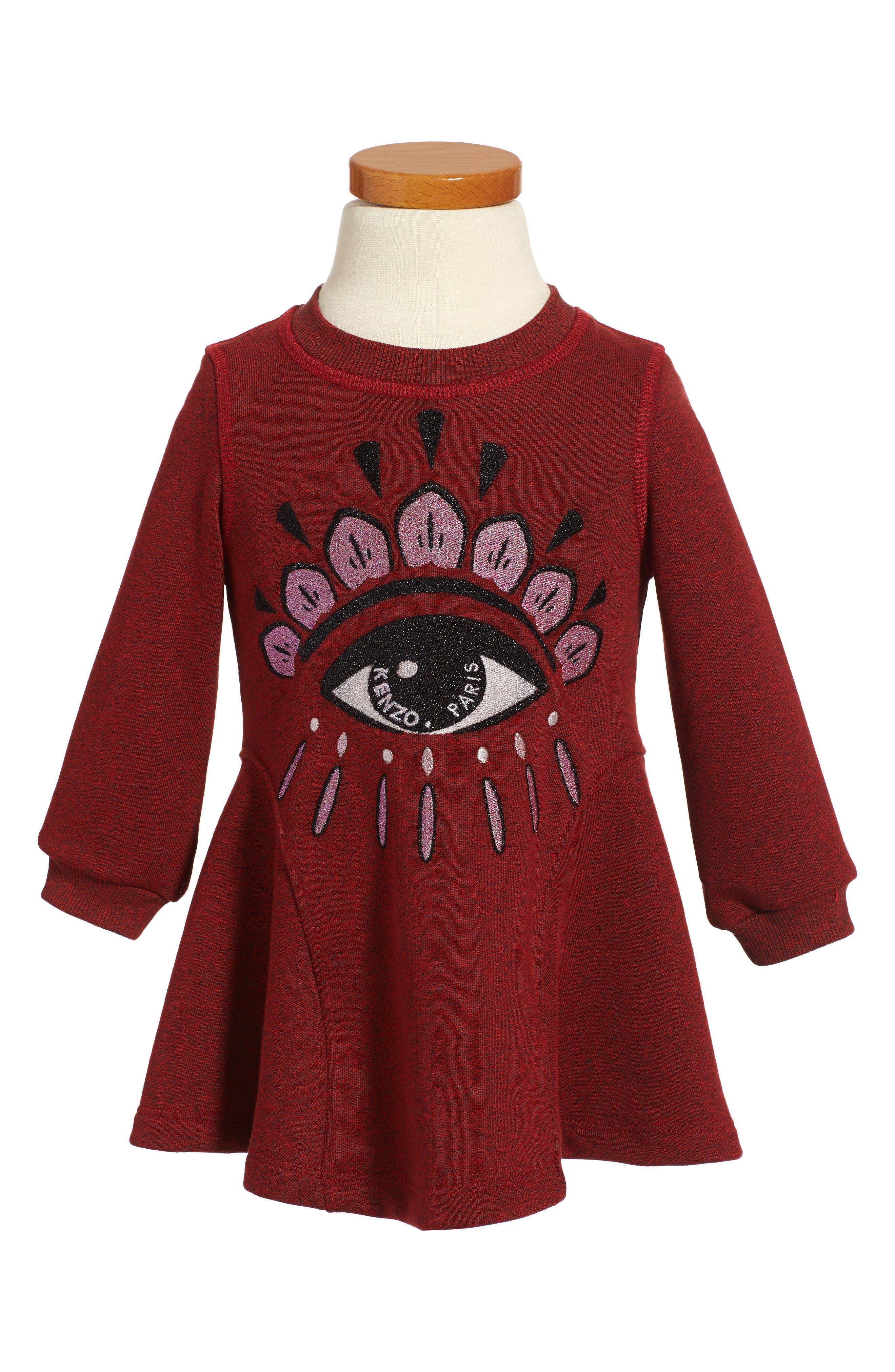 Eye Graphic Tee,                             Main thumbnail 1, color,                             Dark Red