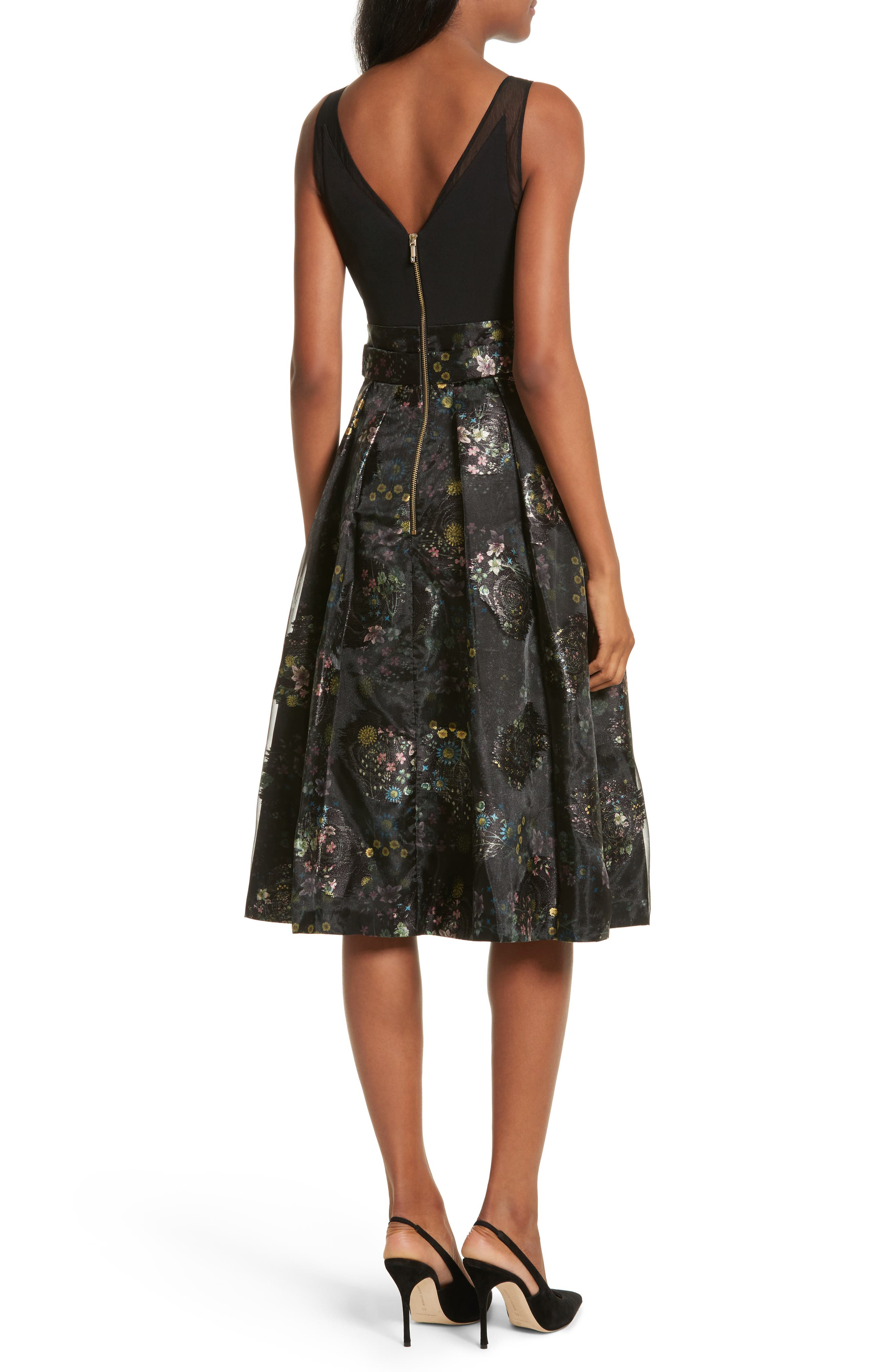 Alternate Image 2  - Ted Baker London Freay Metallic Floral Fit & Flare Dress