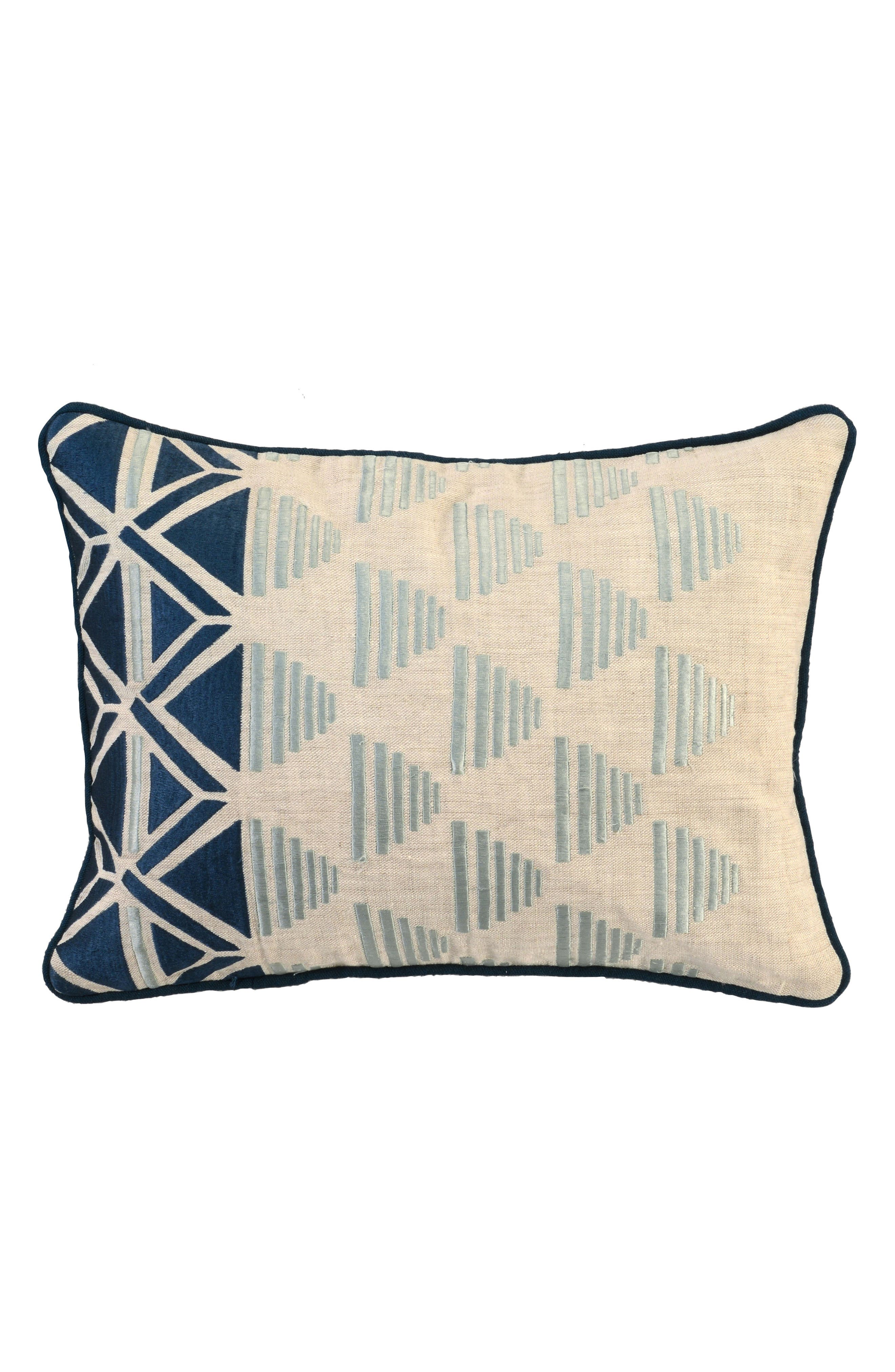 Embroidered Pillow,                         Main,                         color, Tidal