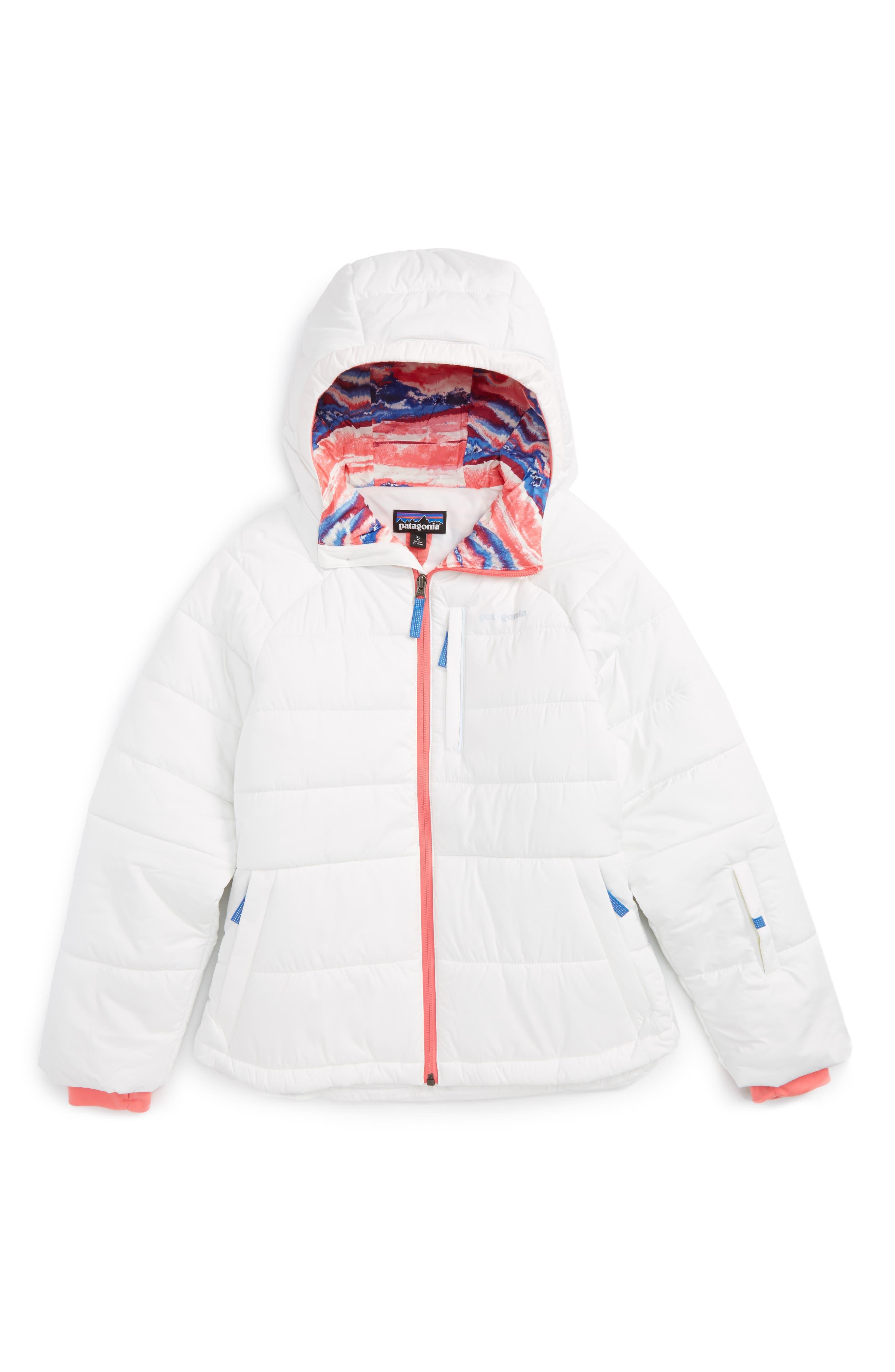 Main Image - Patagonia Aspen Grove Water Resistant Hooded Jacket (Little Girls & Big Girls)