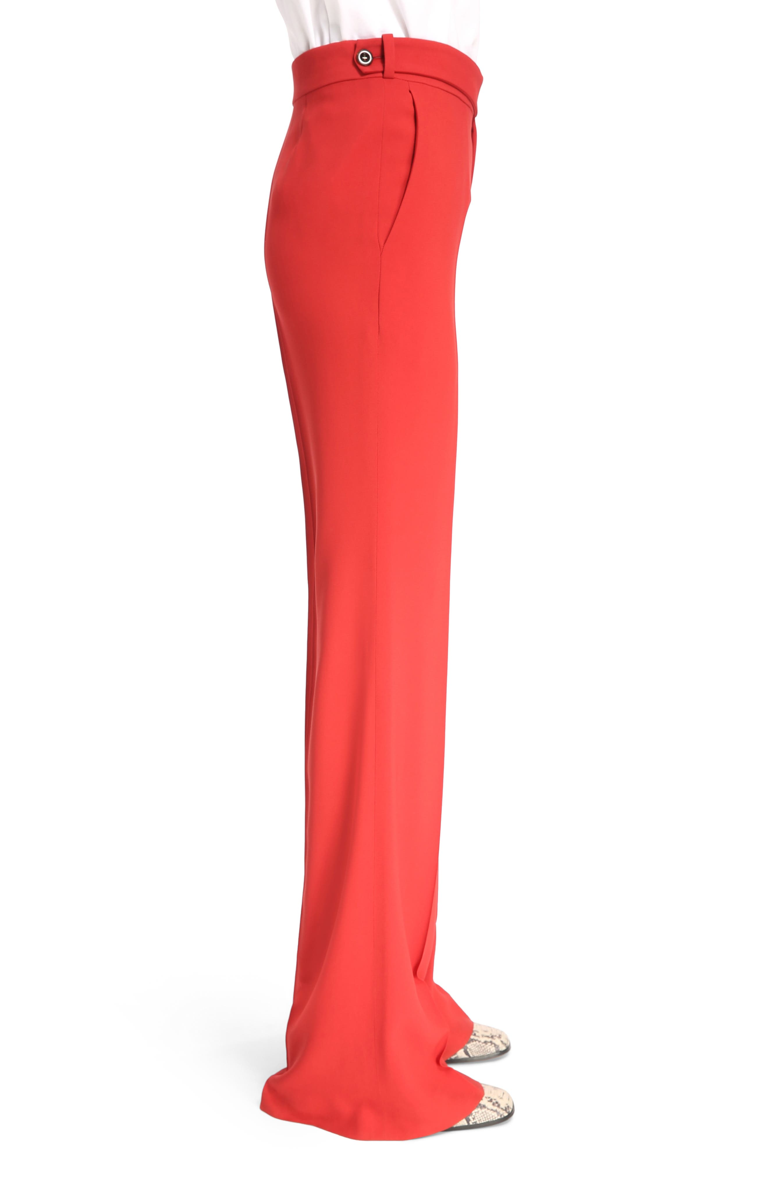 Cady Flare Suiting Pants,                             Alternate thumbnail 3, color,                             Ginger Red