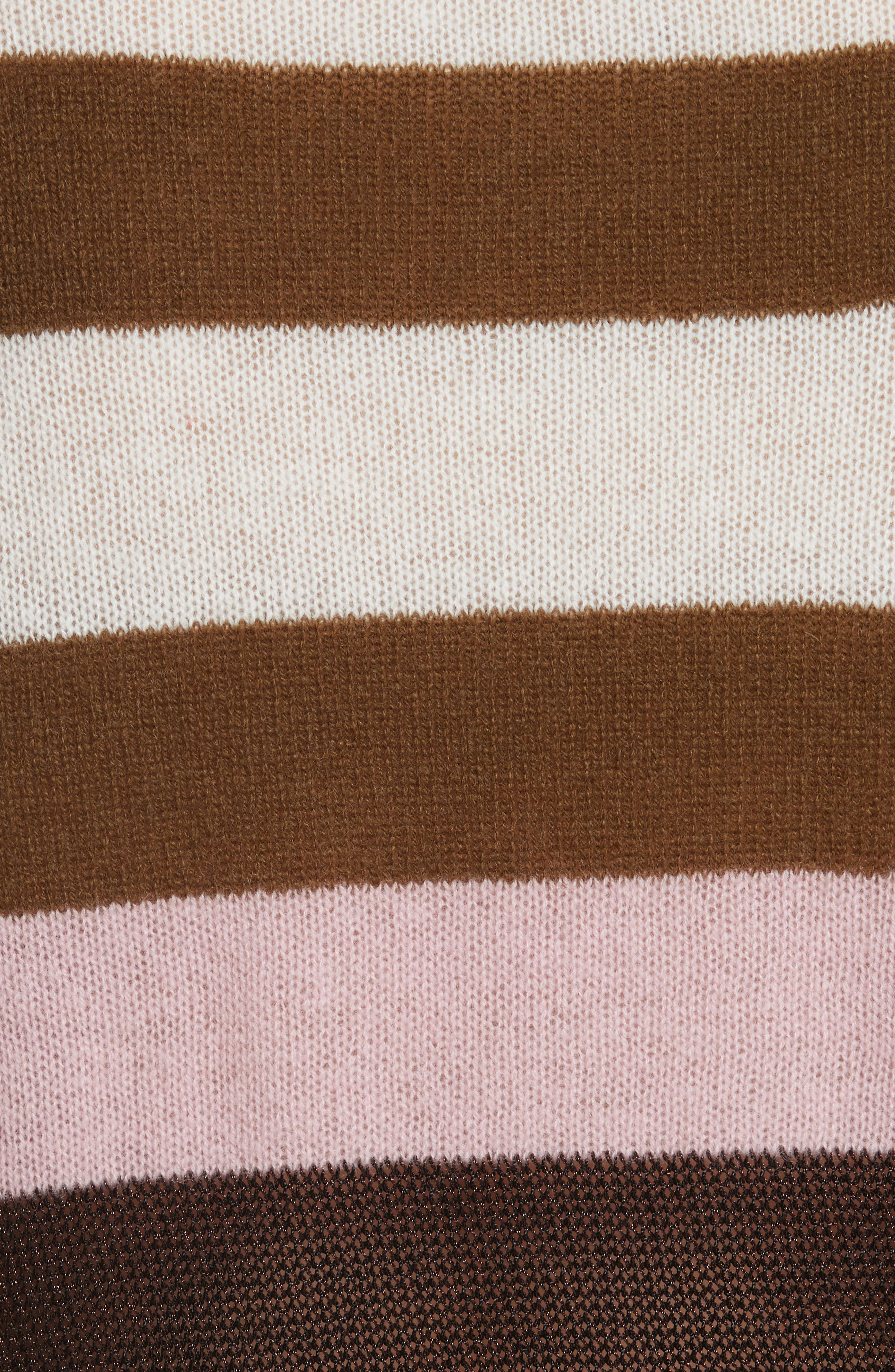 Annika Stripe Sweater,                             Alternate thumbnail 6, color,                             Pink Multi