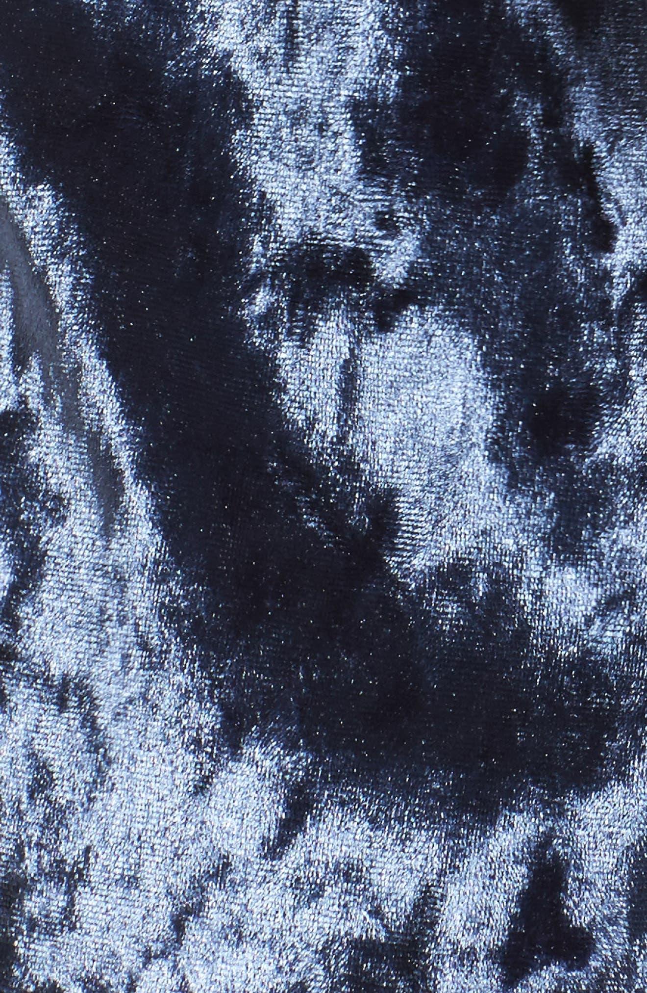 Starry Night Velvet Pajama Shorts,                             Alternate thumbnail 7, color,                             Navy Indigo