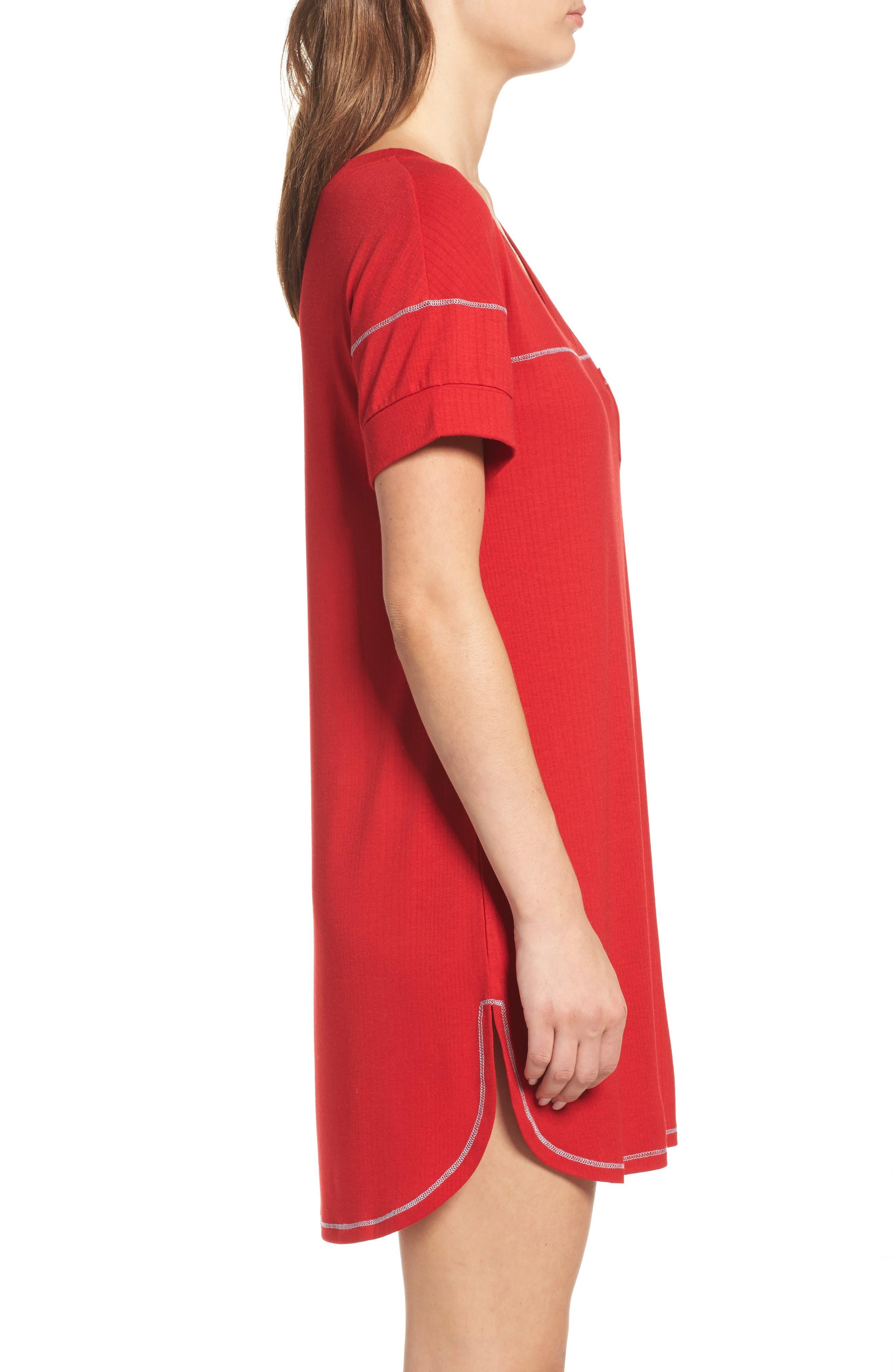 Alternate Image 3  - Honeydew Intimates Rib Sleep Shirt