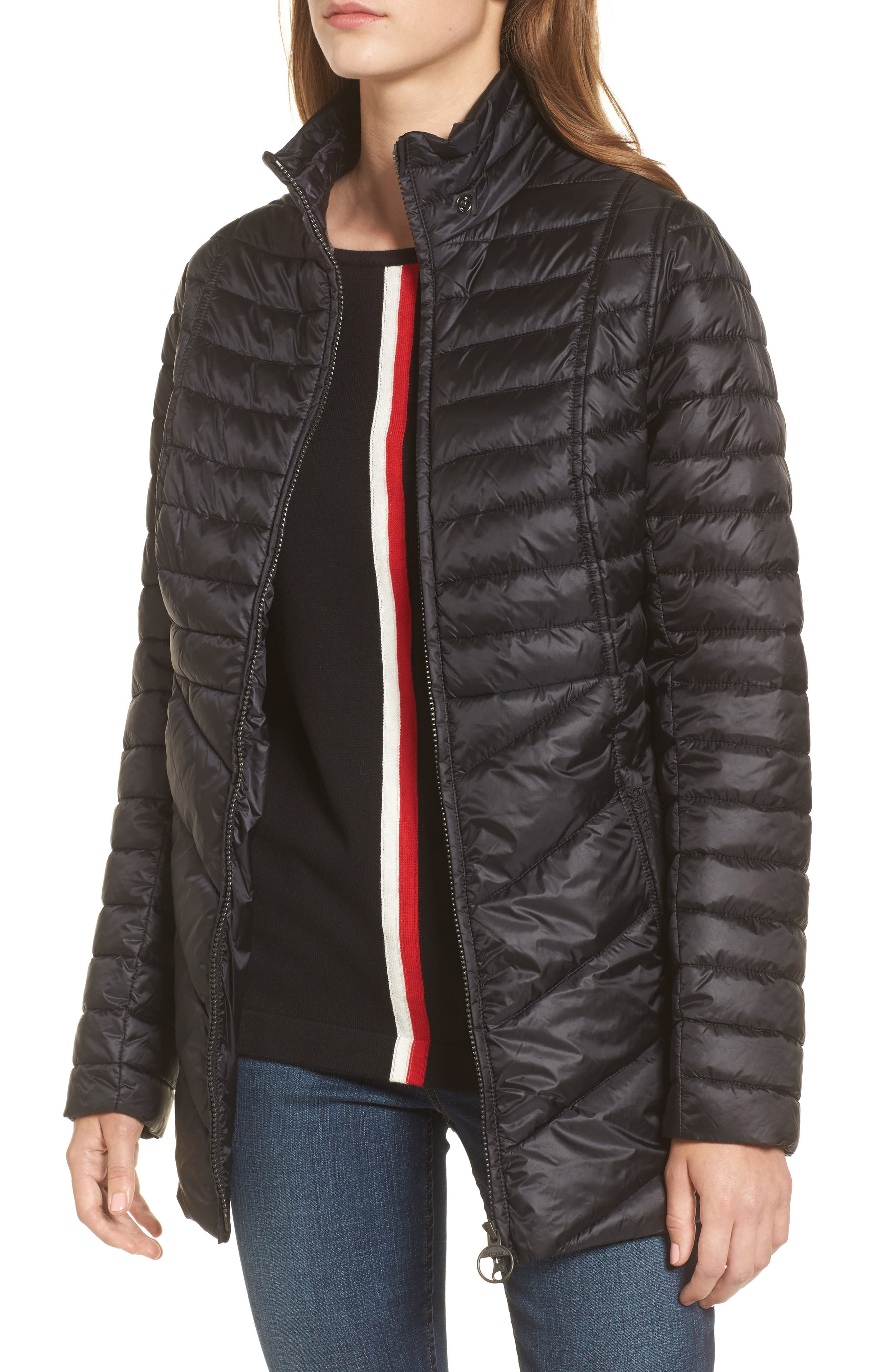 Alternate Image 4  - Barbour Linton Hooded Water Resistant Quilted Jacket