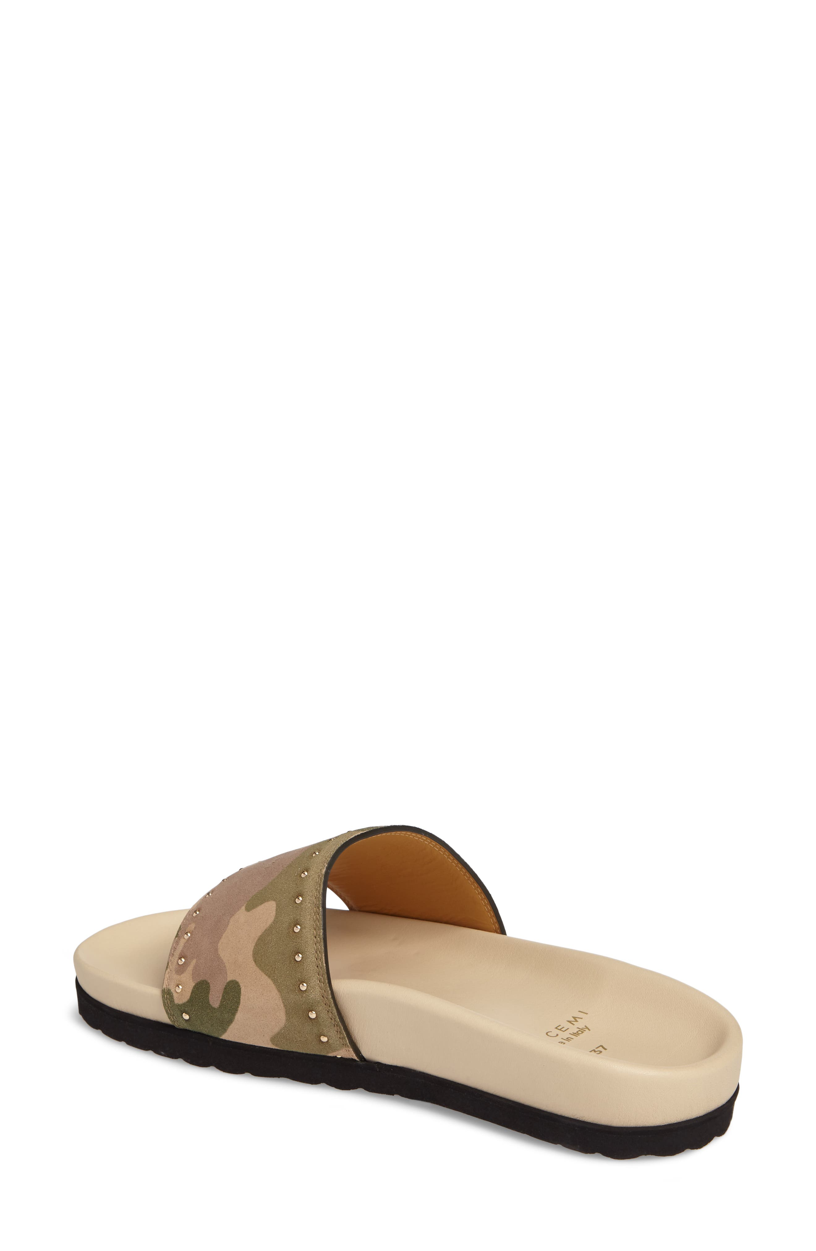 Camo Slide Sandal,                             Alternate thumbnail 2, color,                             Camou