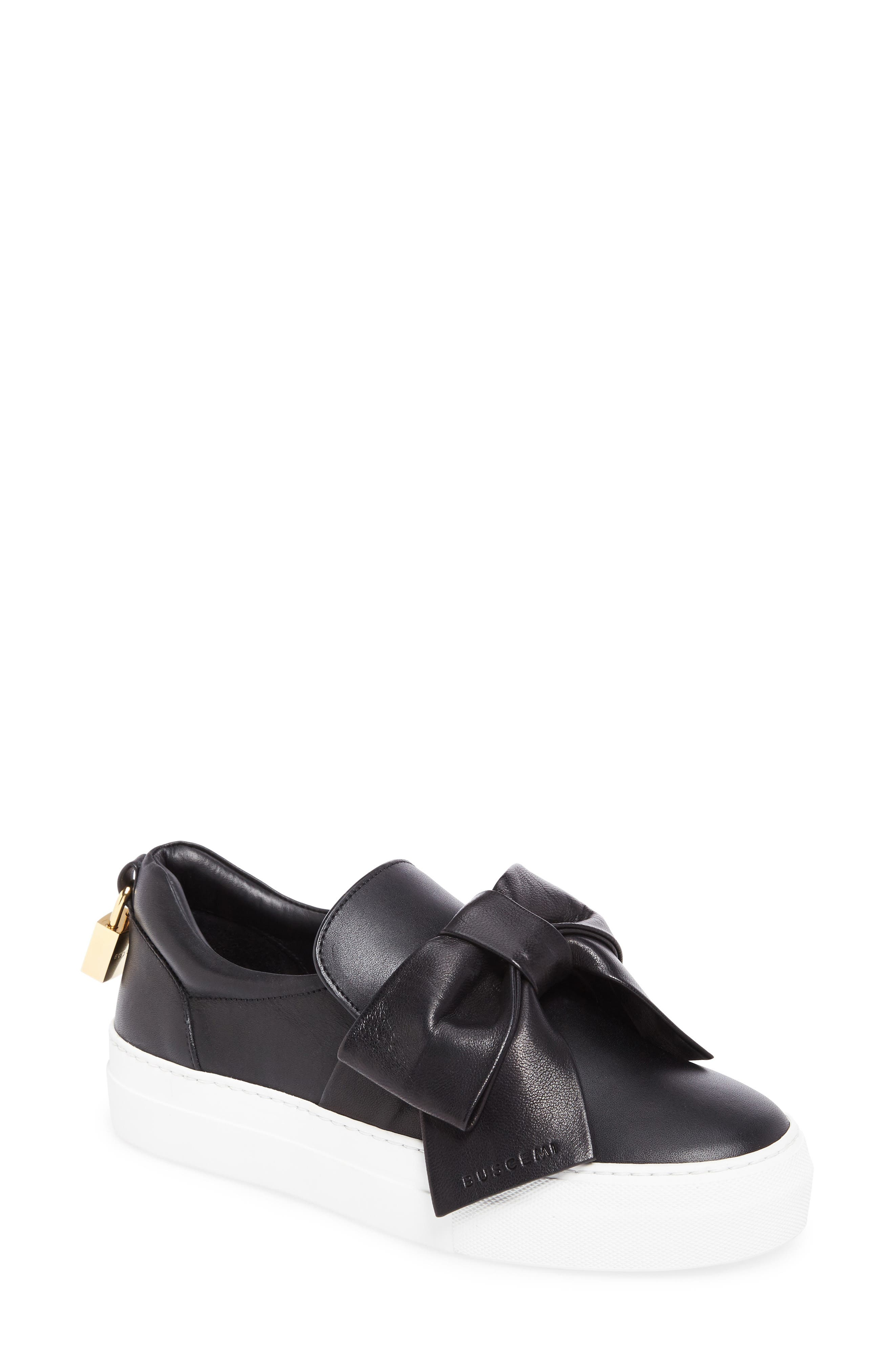 Main Image - Buscemi Bow Slip-On Sneaker (Women)