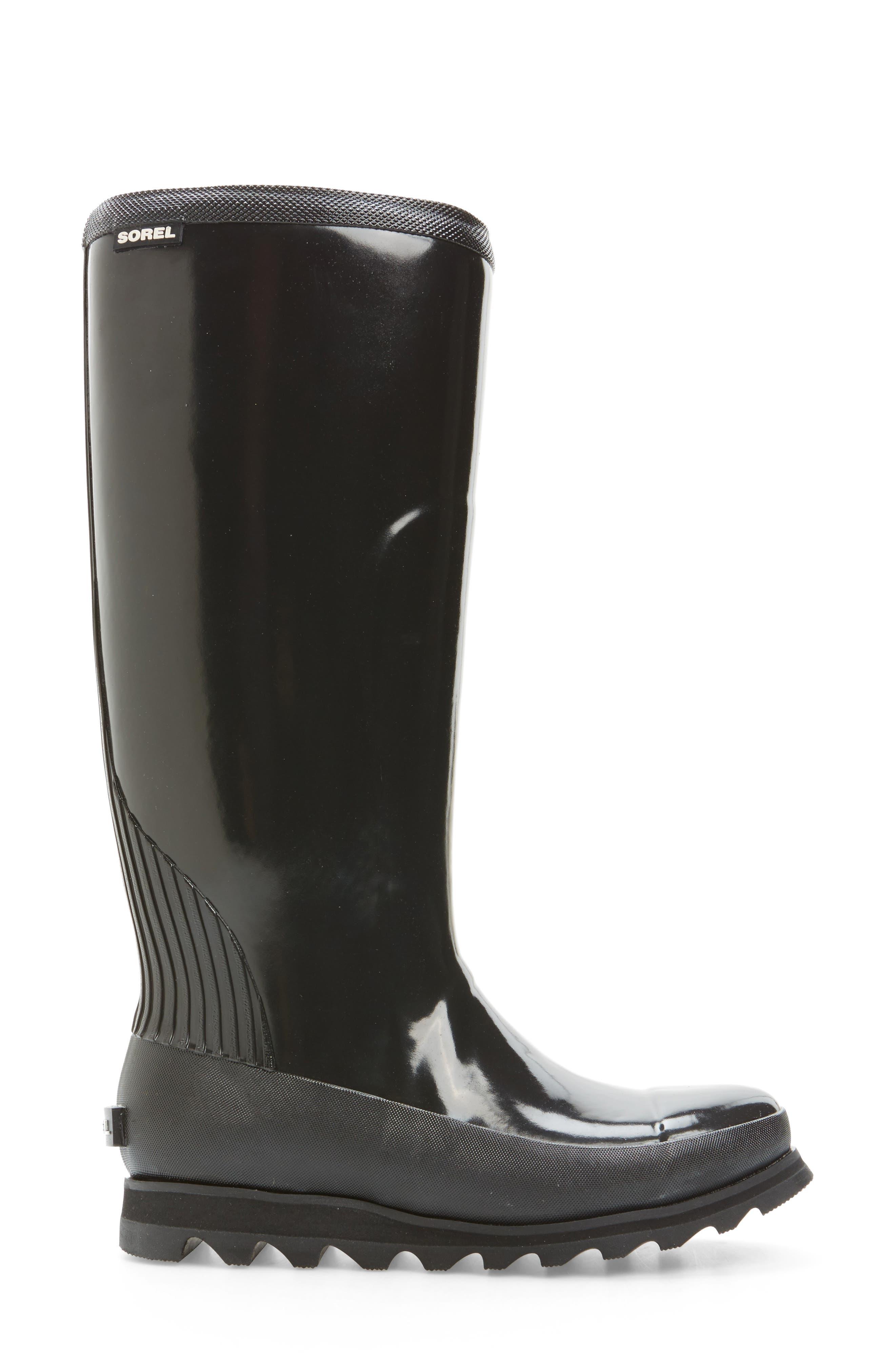 Alternate Image 3  - SOREL Joan Glossy Tall Rain Boot (Women)