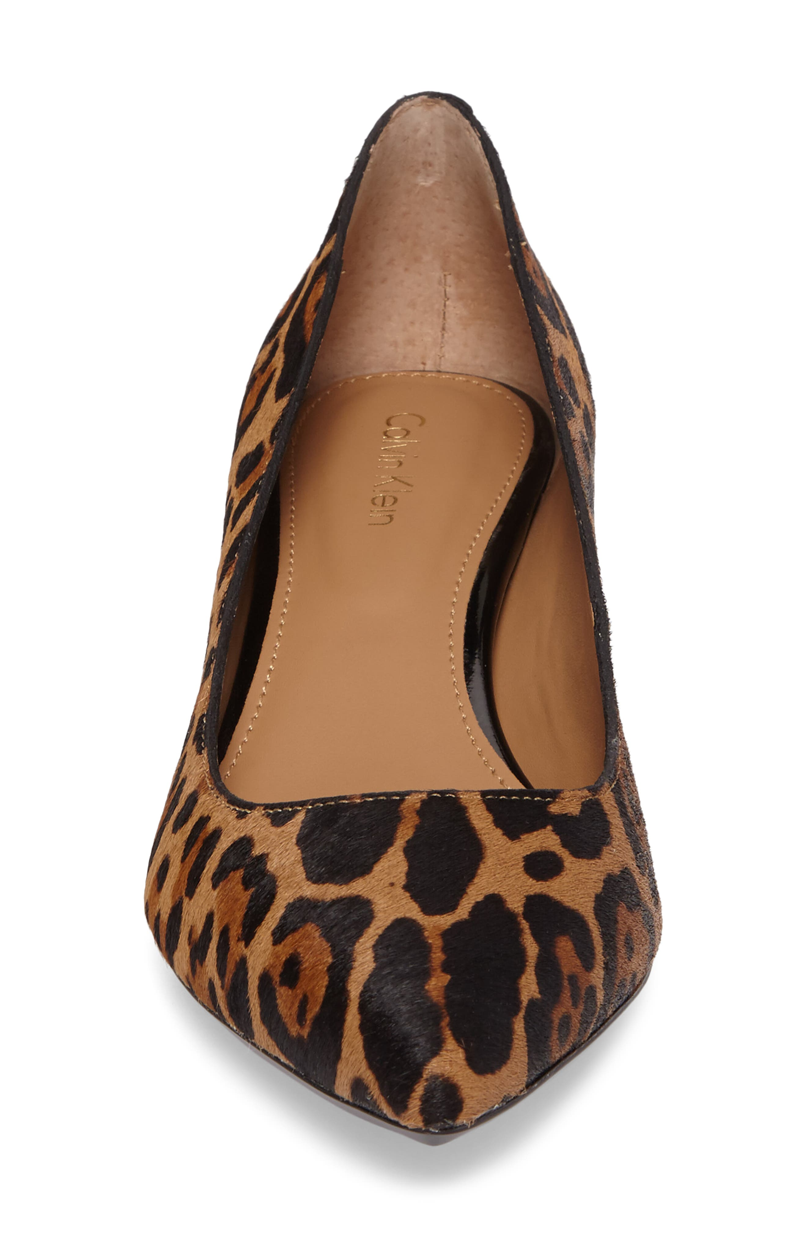 Genoveva Pump,                             Alternate thumbnail 4, color,                             Natural Leopard Hair Calf