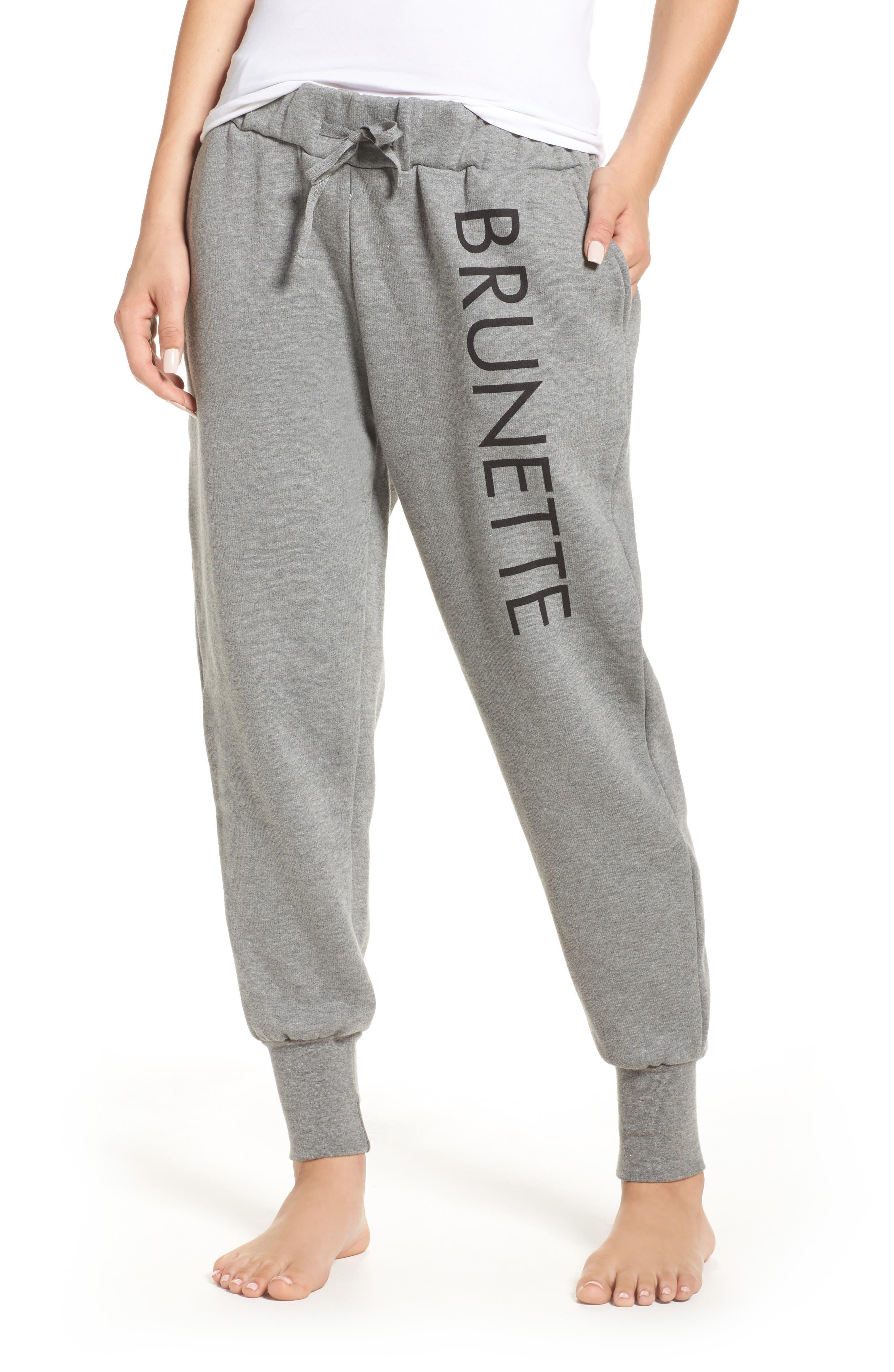 Brunette Jogger Pants,                         Main,                         color, Heather Grey Blonde