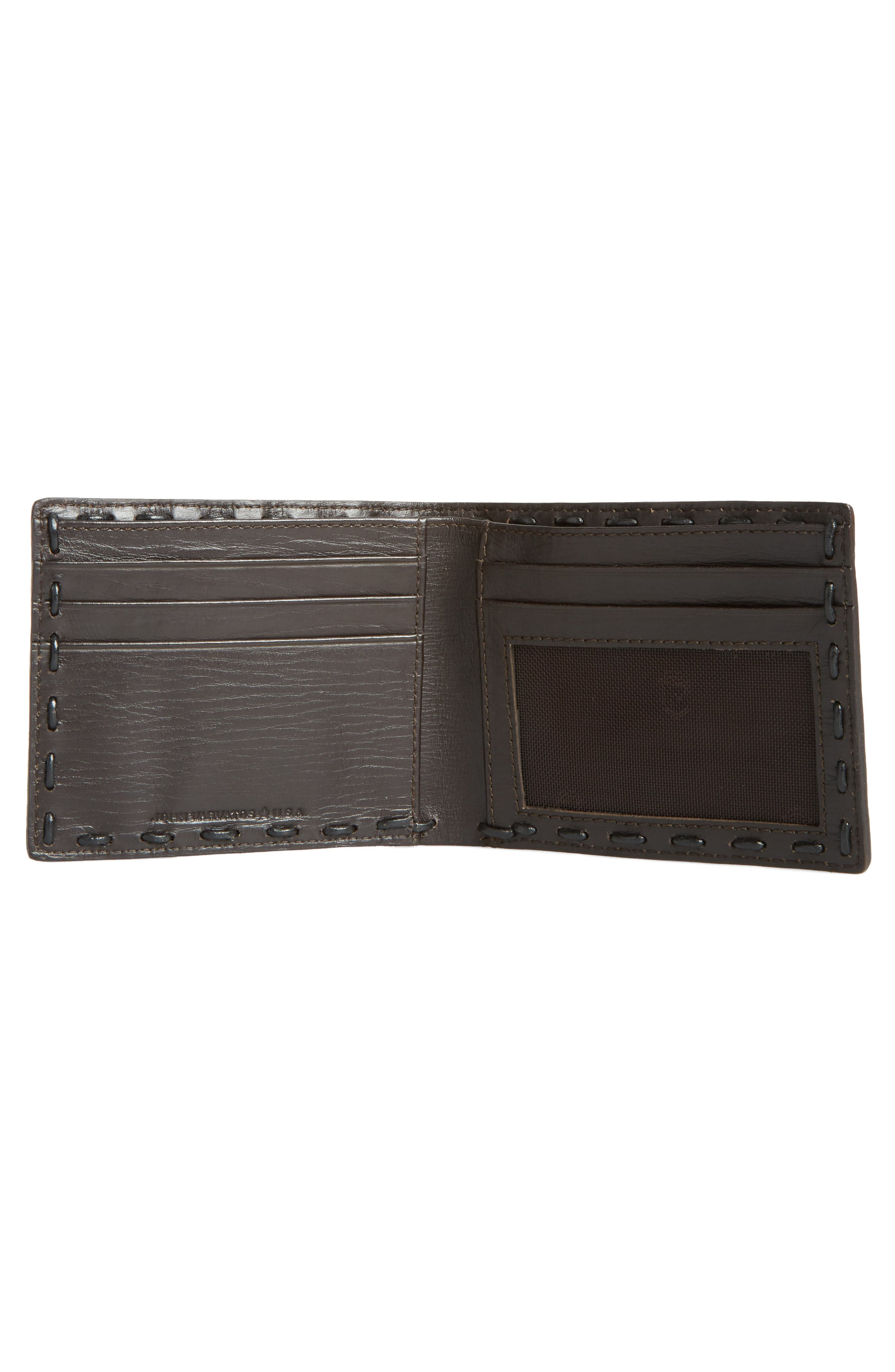 Pickstitch Leather Bifold Wallet,                             Alternate thumbnail 2, color,                             Chocolate