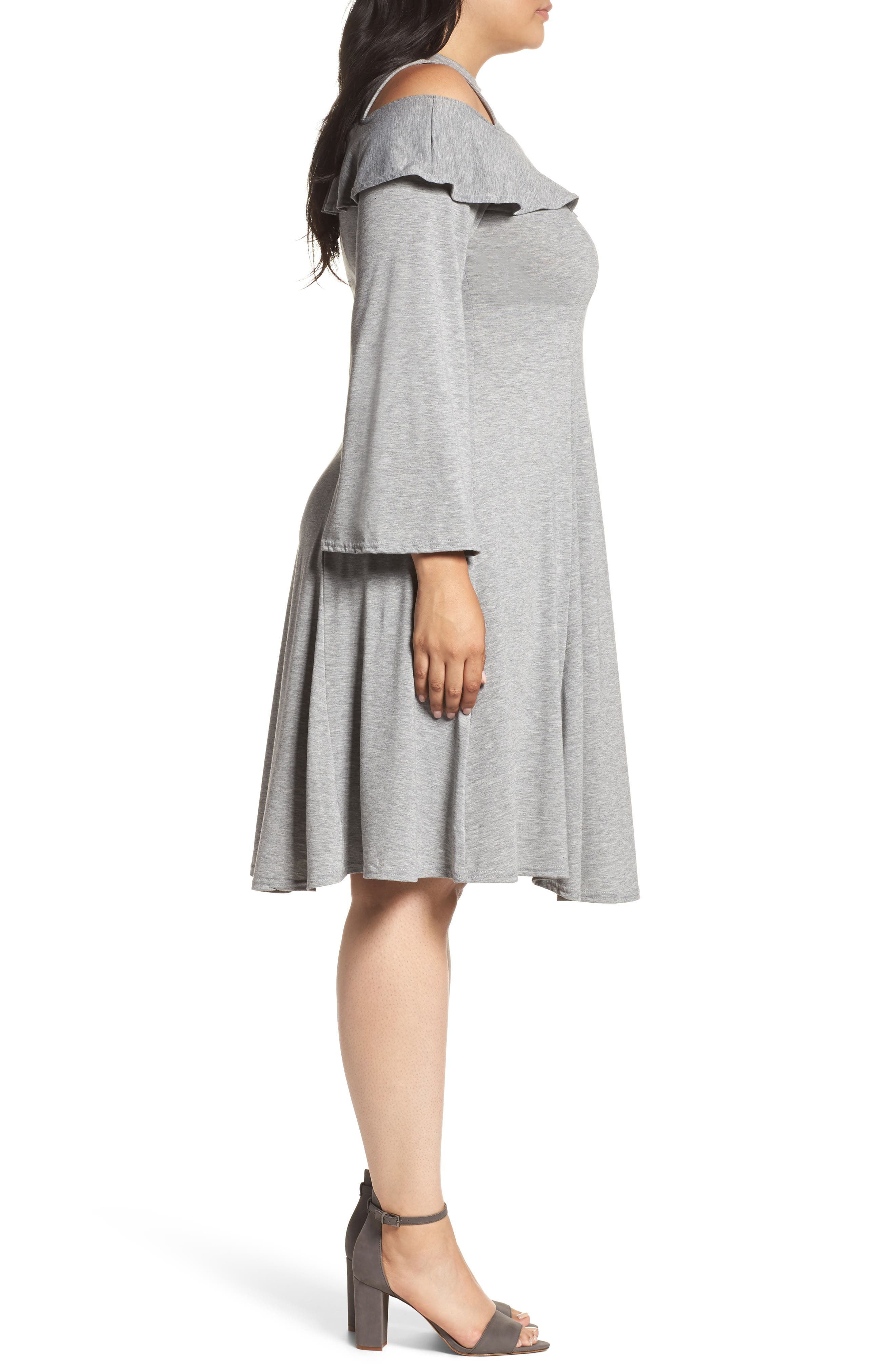 Alternate Image 5  - LOST INK Jersey Fit & Flare Dress (Plus Size)