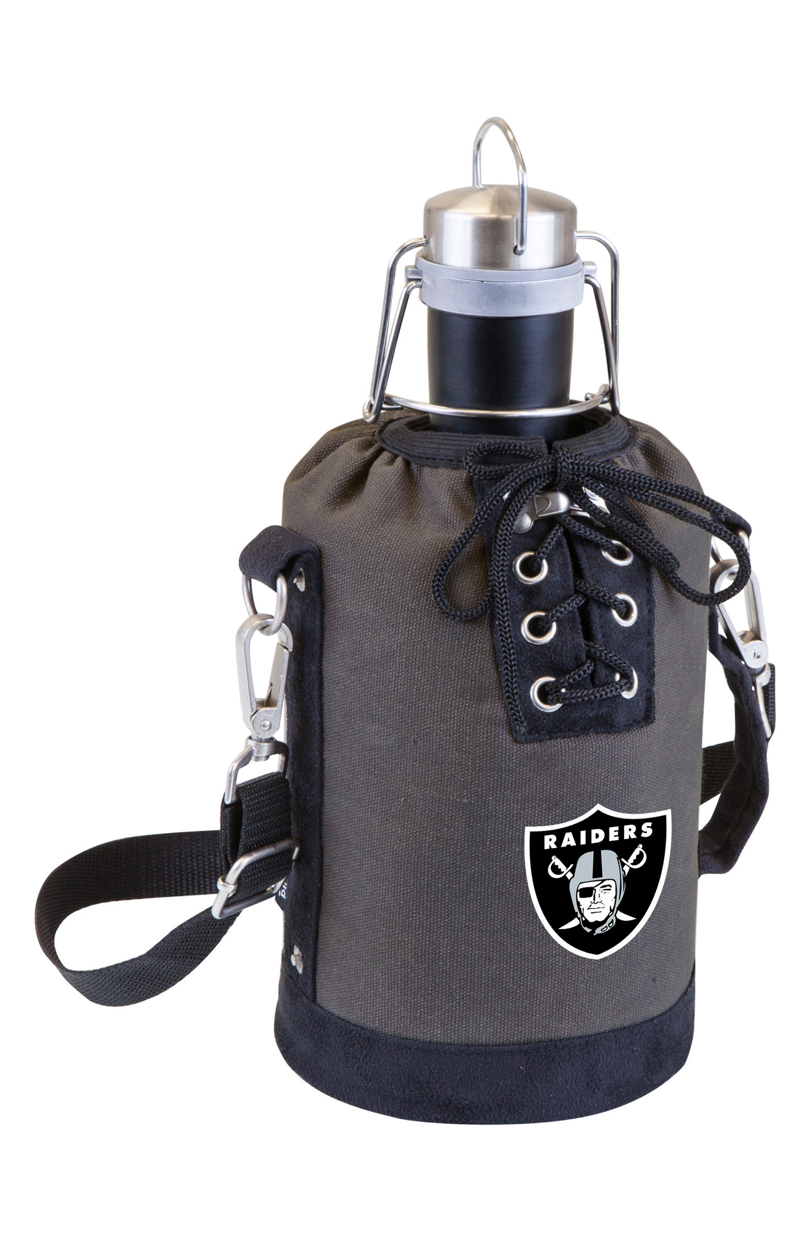 NFL Team Logo Tote & Stainless Steel Growler,                         Main,                         color, Oakland Raiders