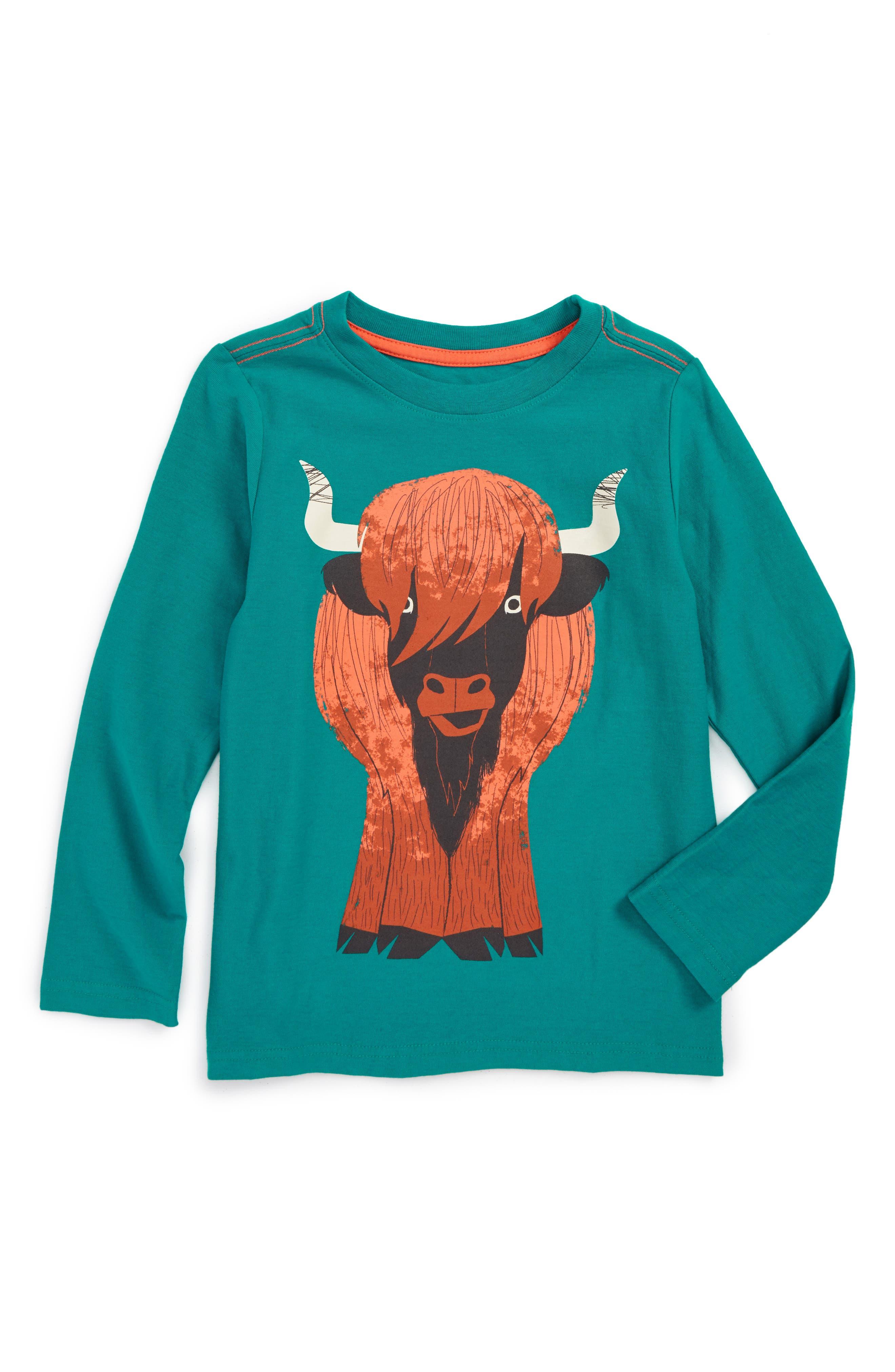Tea Collection Heeland Coo Graphic T-Shirt (Toddler Boys & Little Boys)
