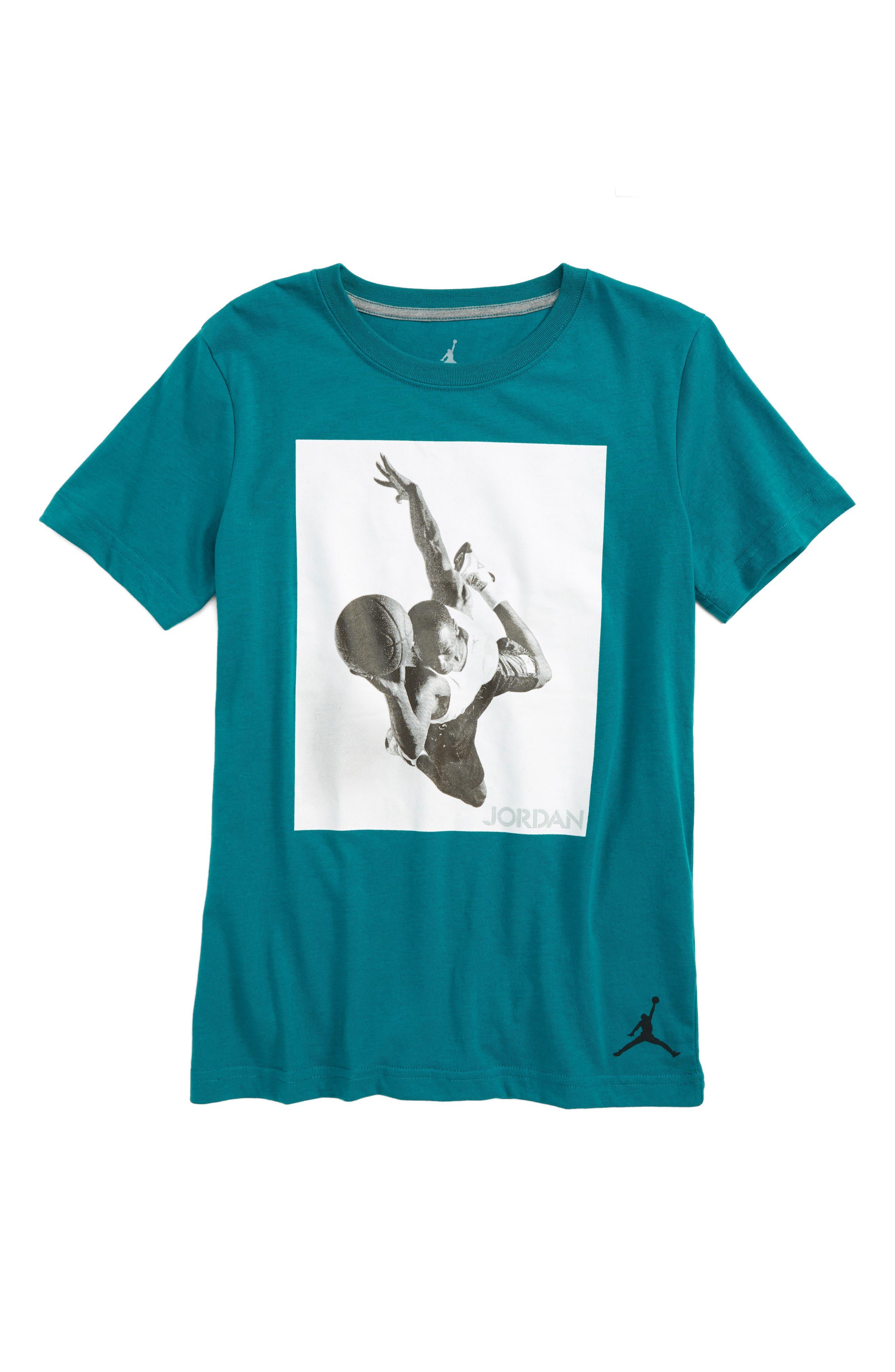 Jordan Flight Heritage Graphic T-Shirt,                             Main thumbnail 1, color,                             Blustery