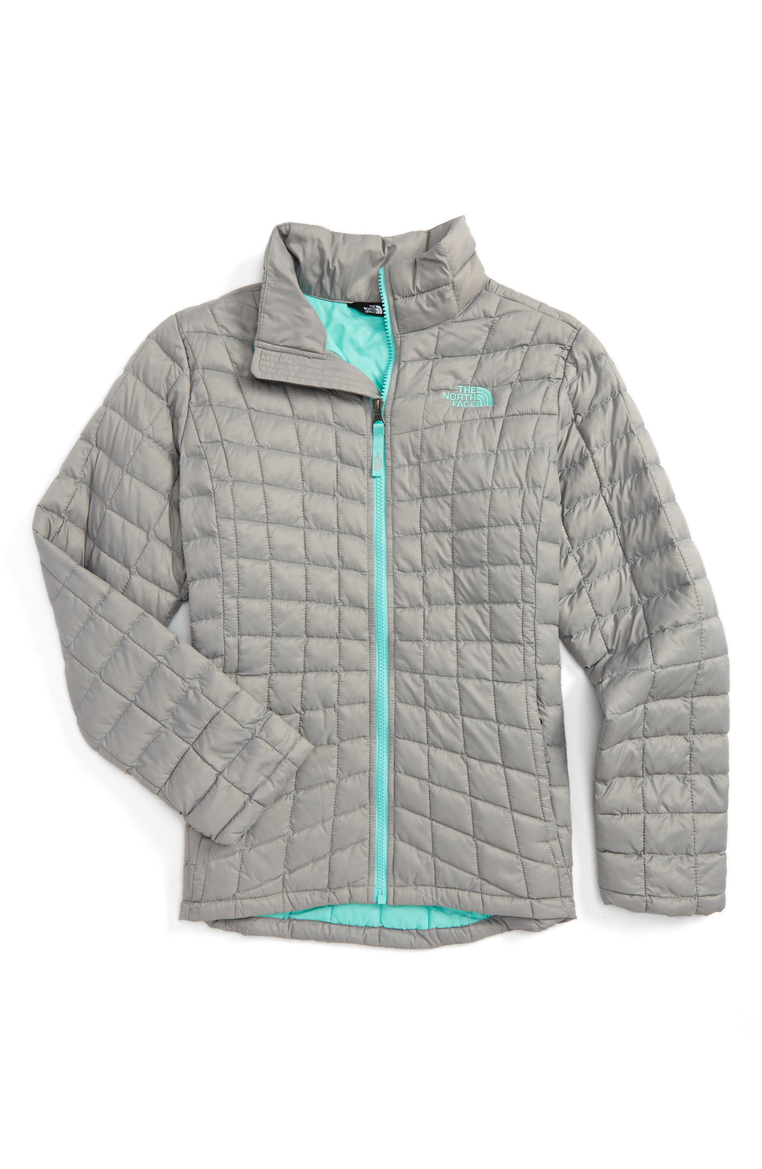 ThermoBall<sup>™</sup> PrimaLoft<sup>®</sup> Quilted Jacket,                         Main,                         color, Metallic Silver