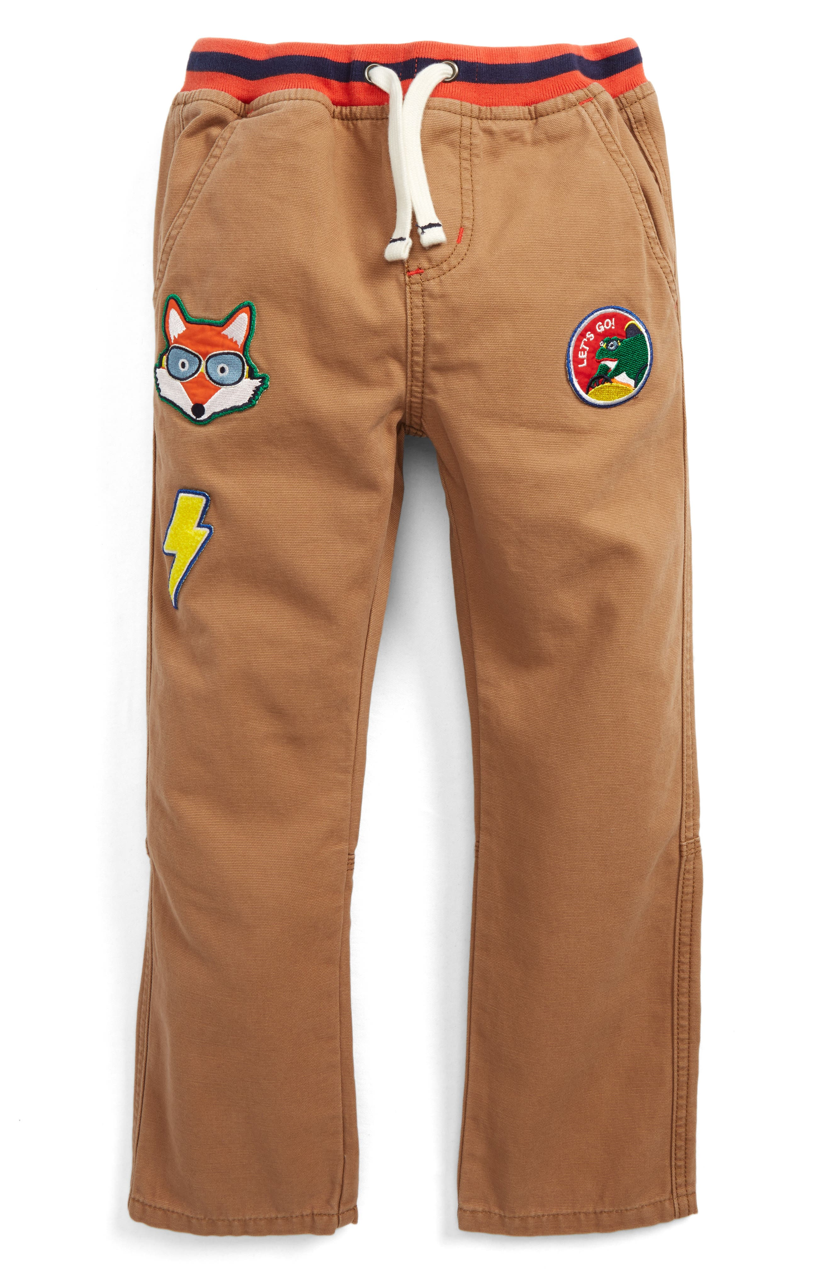Pull-On Canvas Pants,                         Main,                         color, Camel