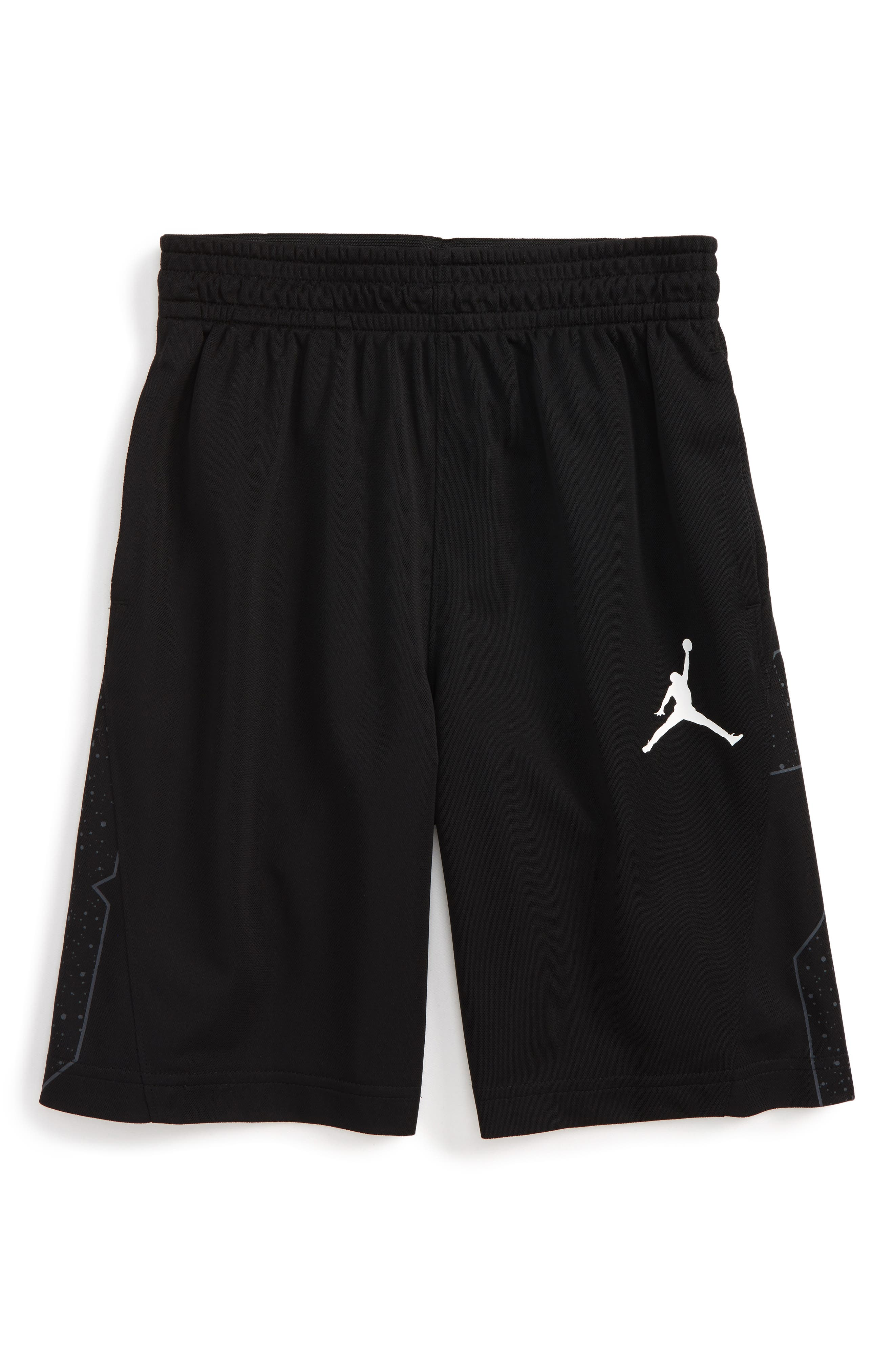Jordan Speckle 23 Basketball Shorts,                         Main,                         color, Black