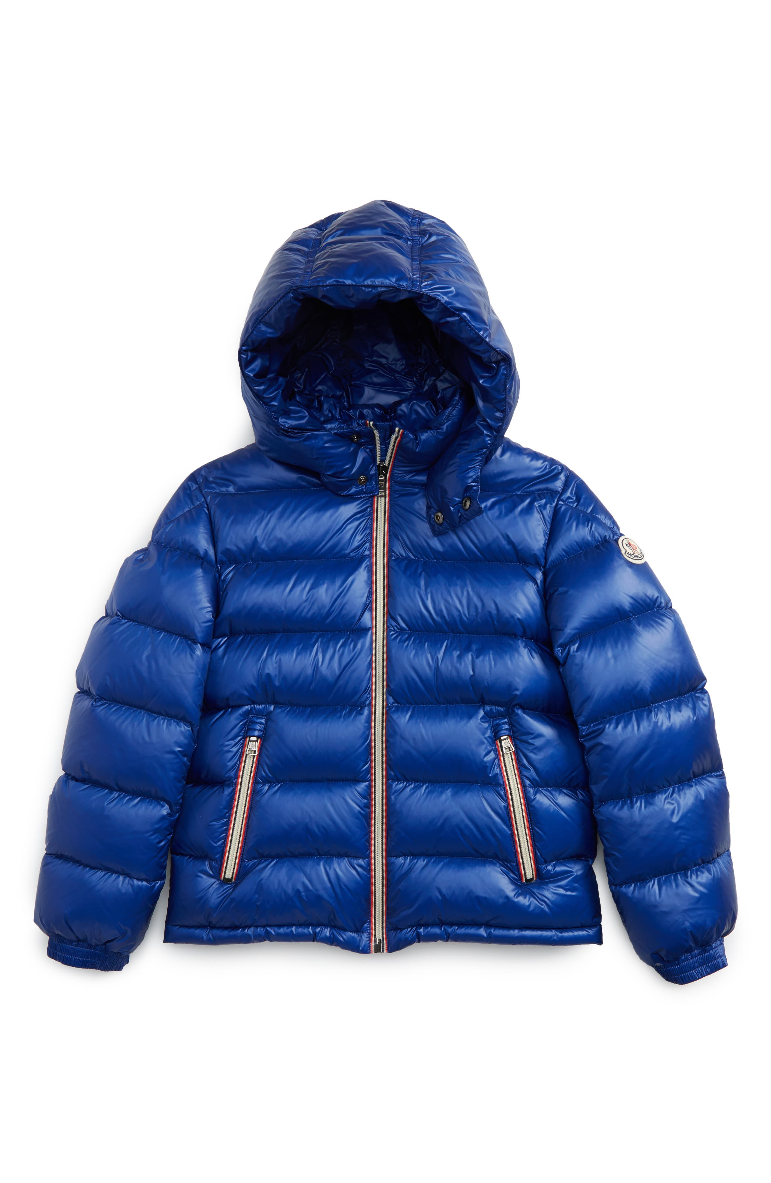 Main Image - Moncler New Gaston Hooded Water Resistant Down Jacket (Toddler Boys, Little Boys & Big Boys)