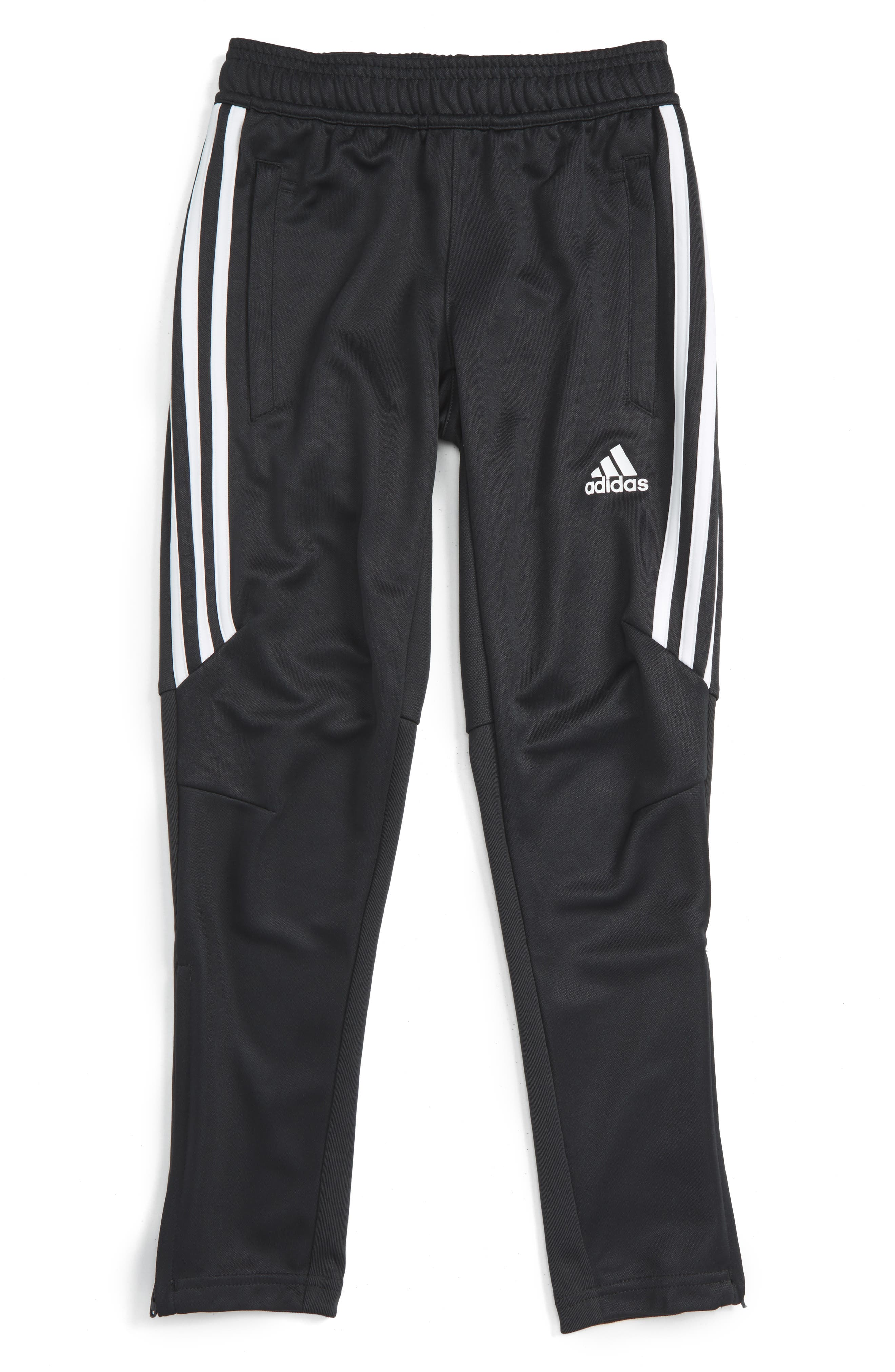 Tiro 17 Training Pants,                         Main,                         color, Dark Grey/ White/ White