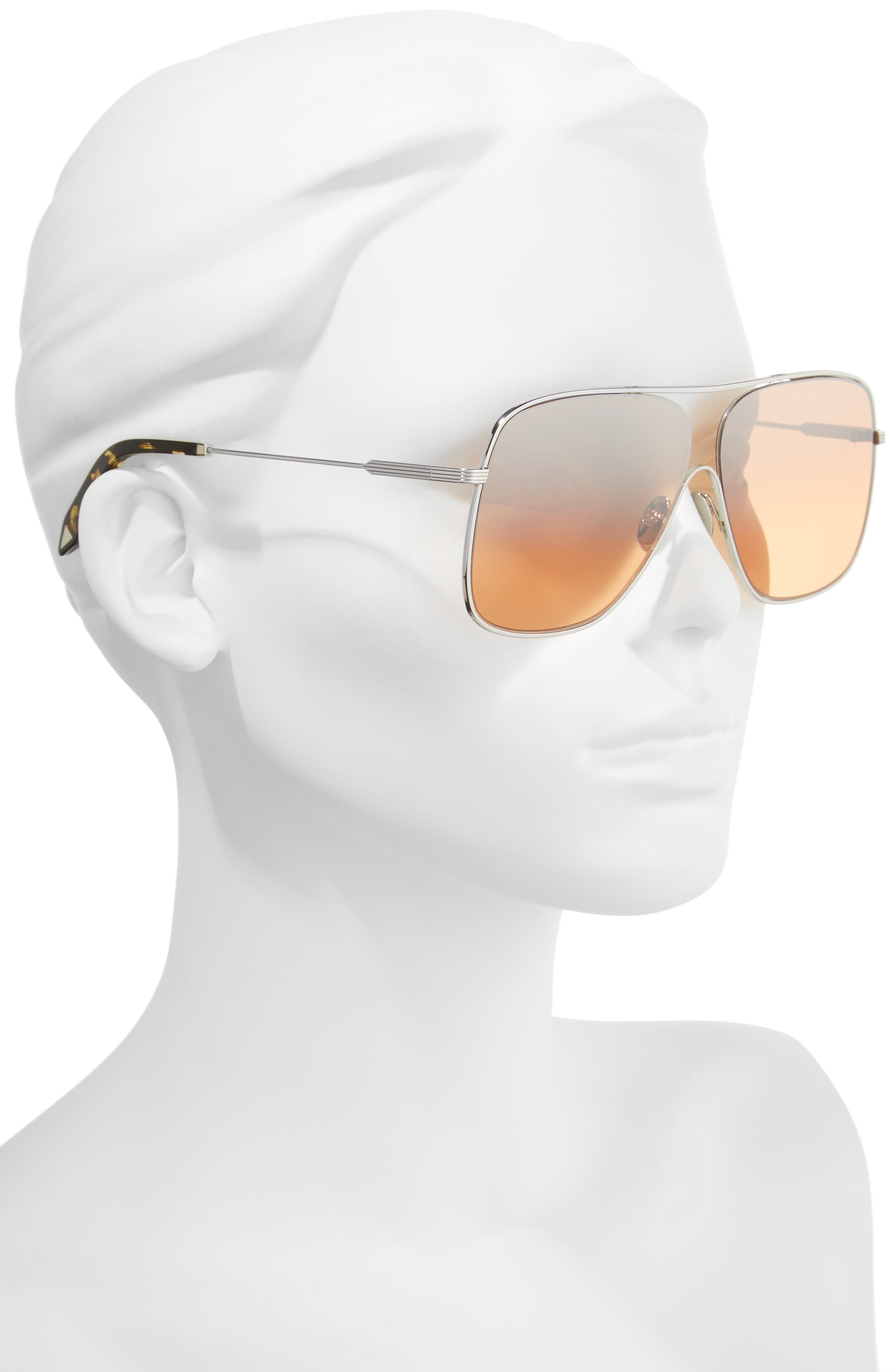 Alternate Image 2  - Victoria Beckham Loop 61mm Navigator Sunglasses