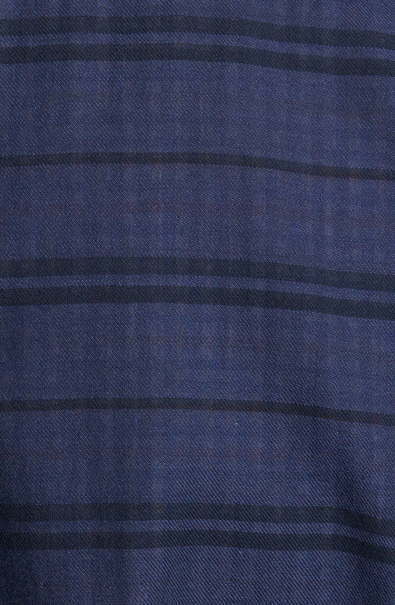 Tan Tan Stripe Standard Fit Sport Shirt,                             Alternate thumbnail 5, color,                             Deep Tahoe