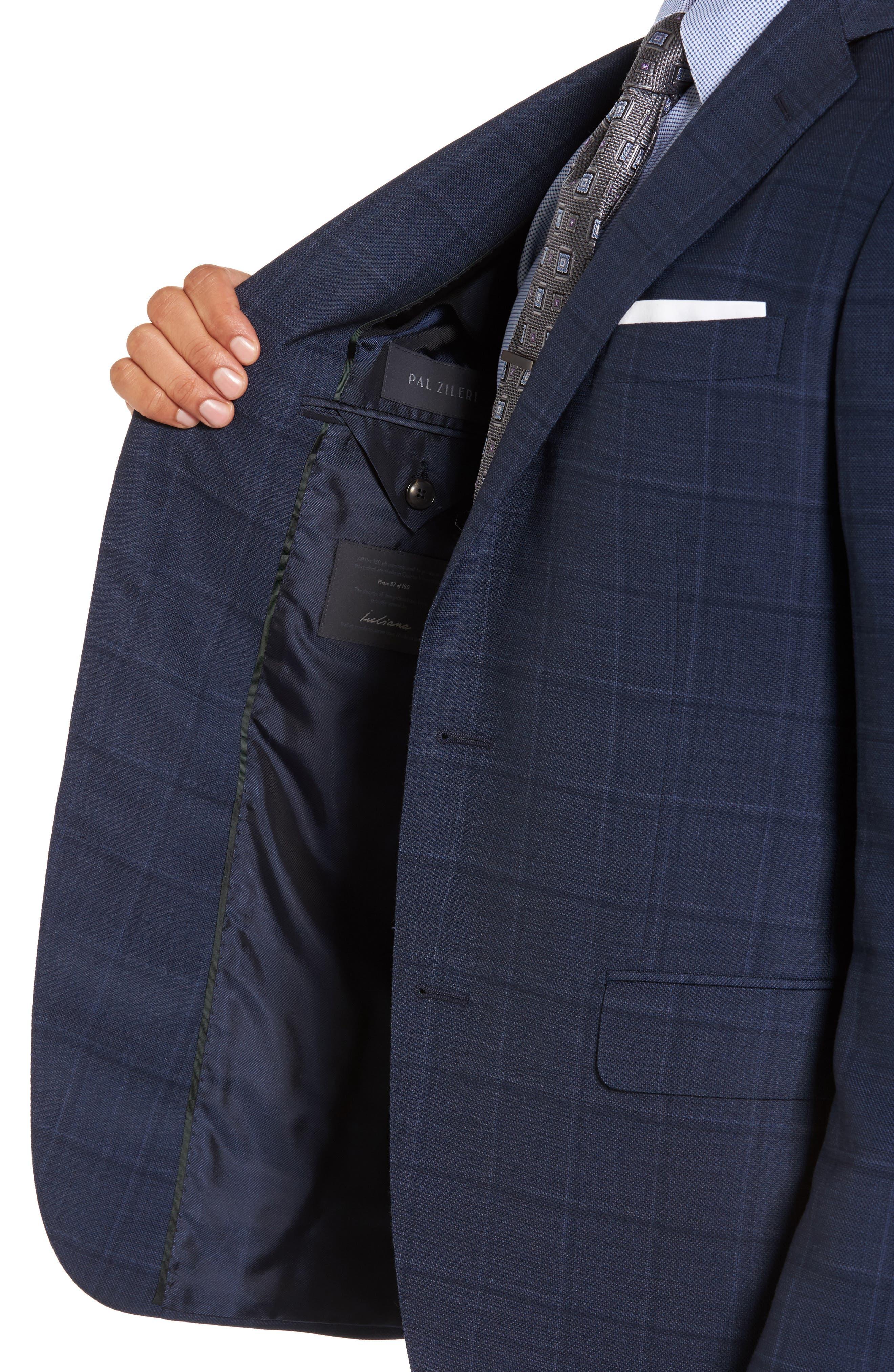 Alternate Image 4  - Pal Zileri Classic Fit Windowpane Wool Sport Coat
