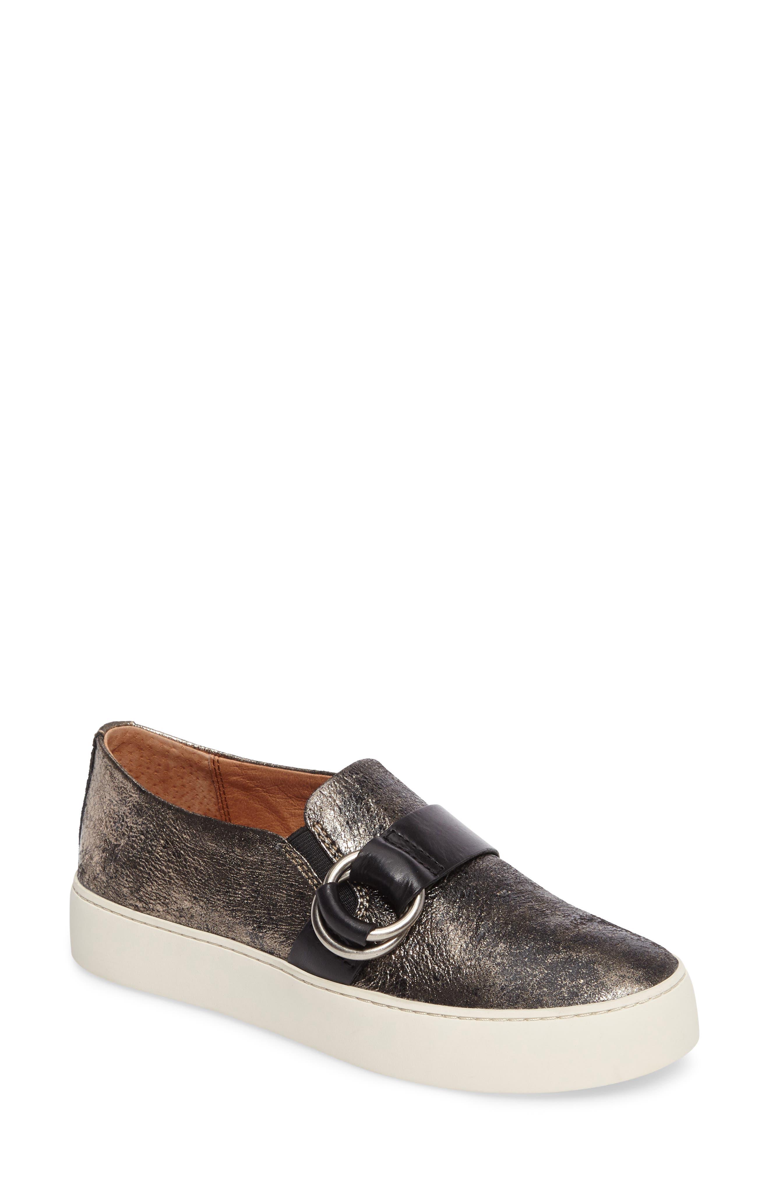 Lena Harness Slip-On Sneaker,                         Main,                         color, Gunmetal