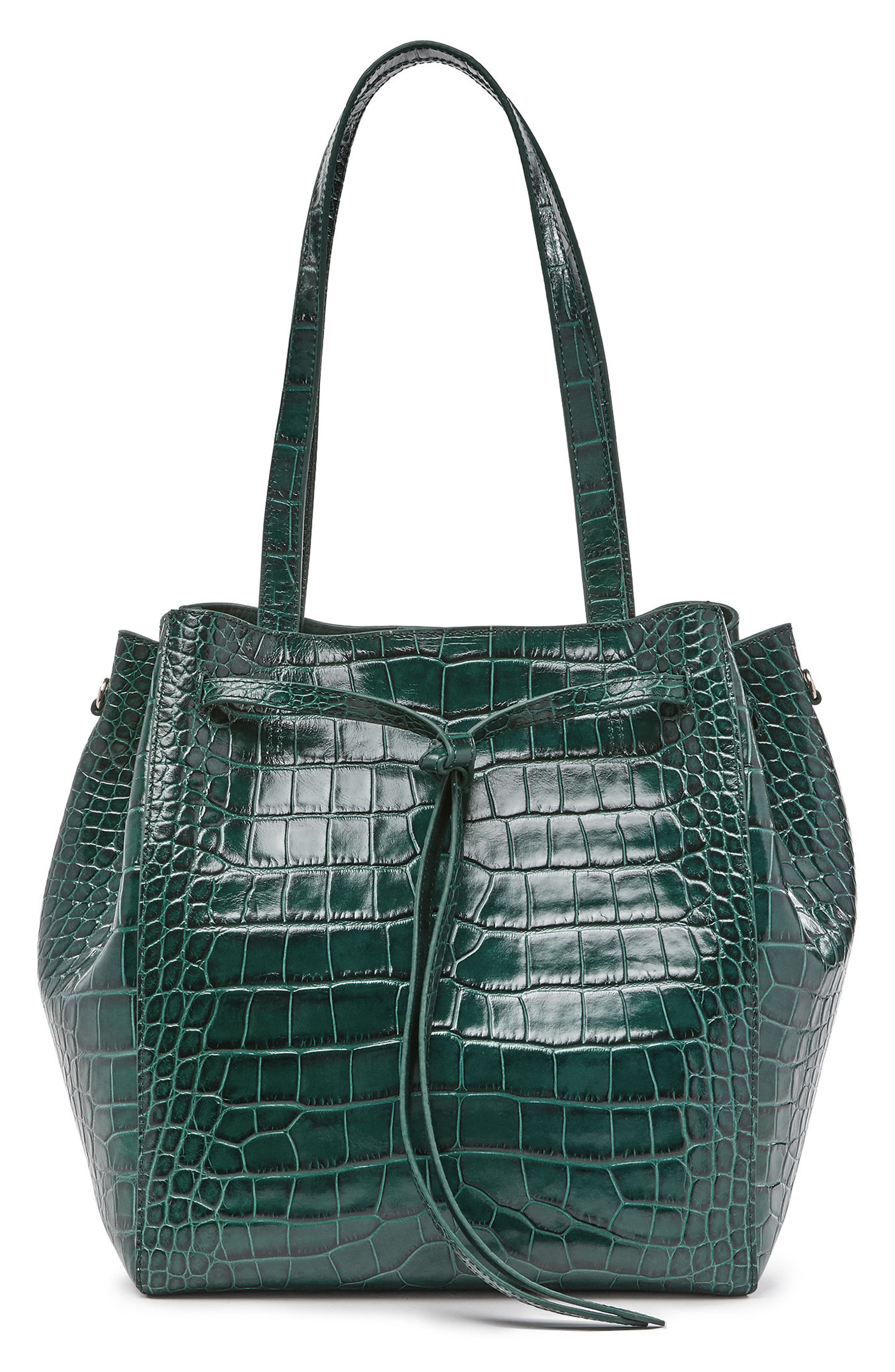 Alternate Image 1 Selected - Pop & Suki Croc Embossed Carryall Tote (Nordstrom Exclusive)