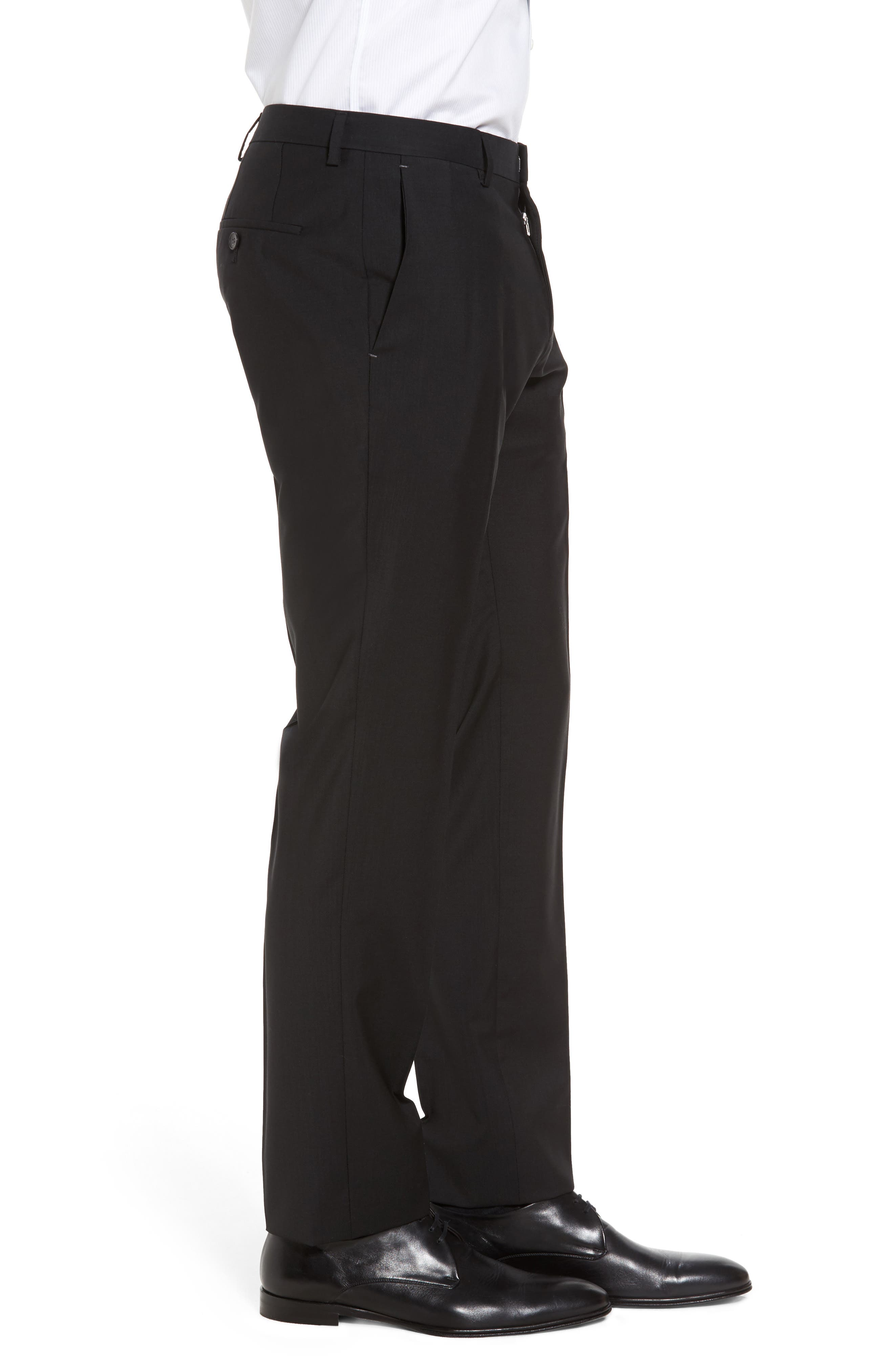 Alternate Image 4  - BOSS 'Genesis' Flat Front Wool Trousers
