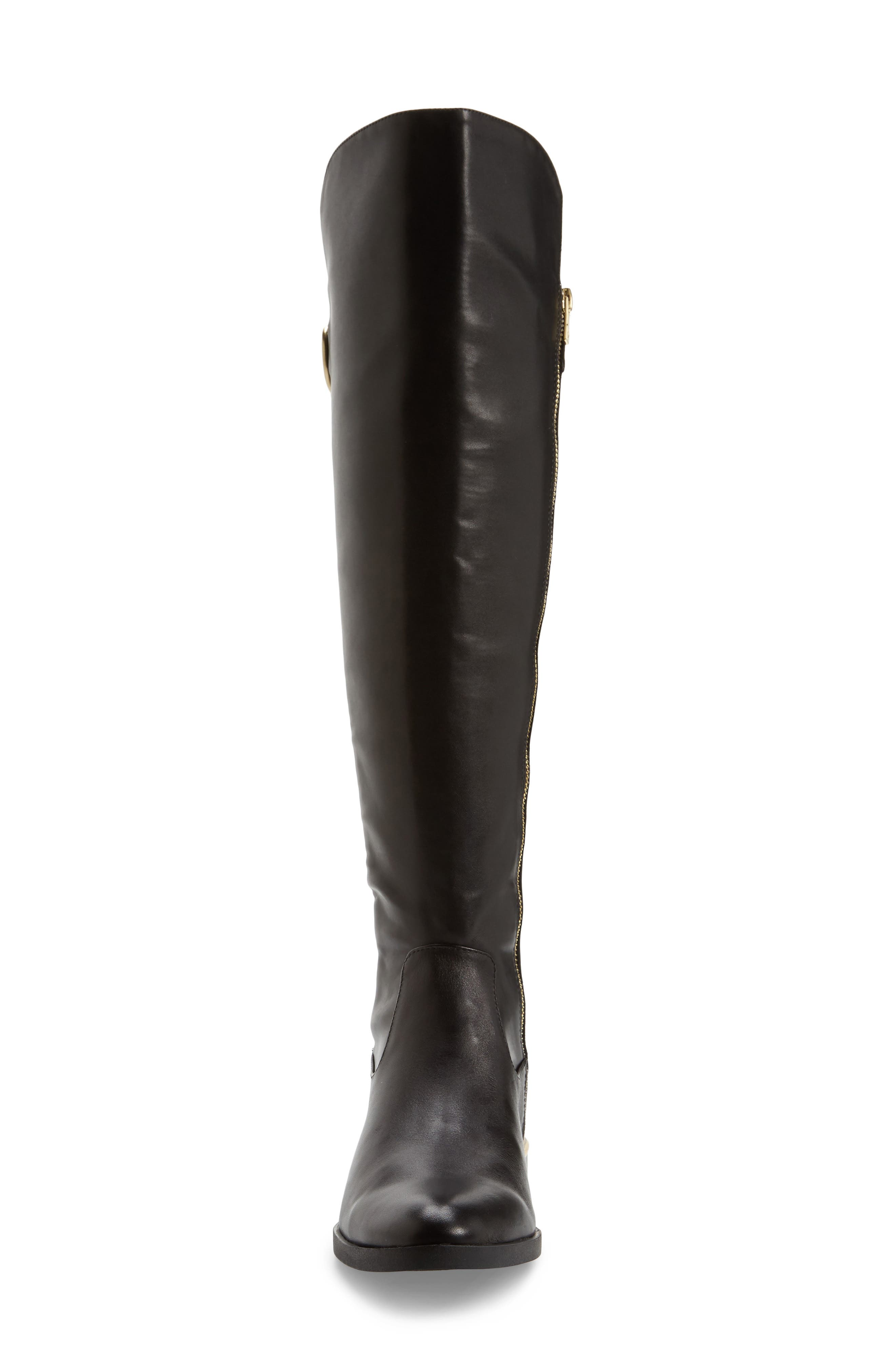 Priscila Over the Knee Boot,                             Alternate thumbnail 4, color,                             Black Leather