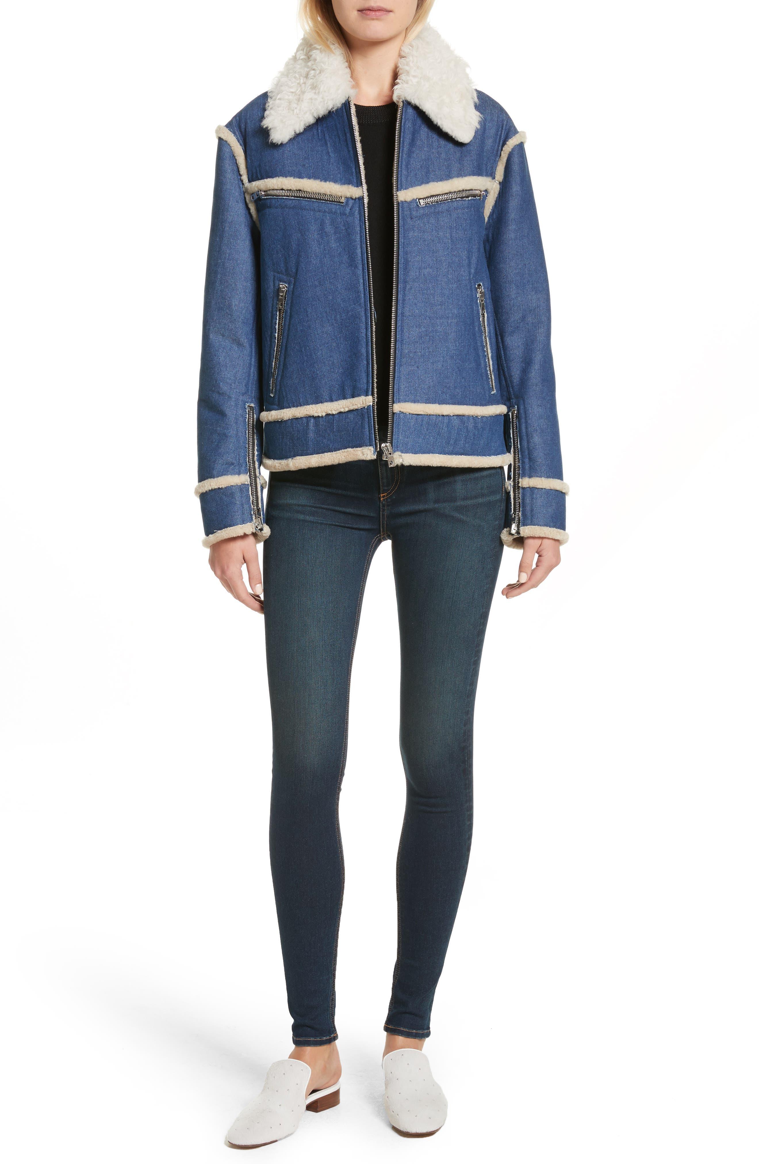 Alternate Image 2  - rag & bone Saralyn Merino Wool & Cotton Blend Crewneck Sweater