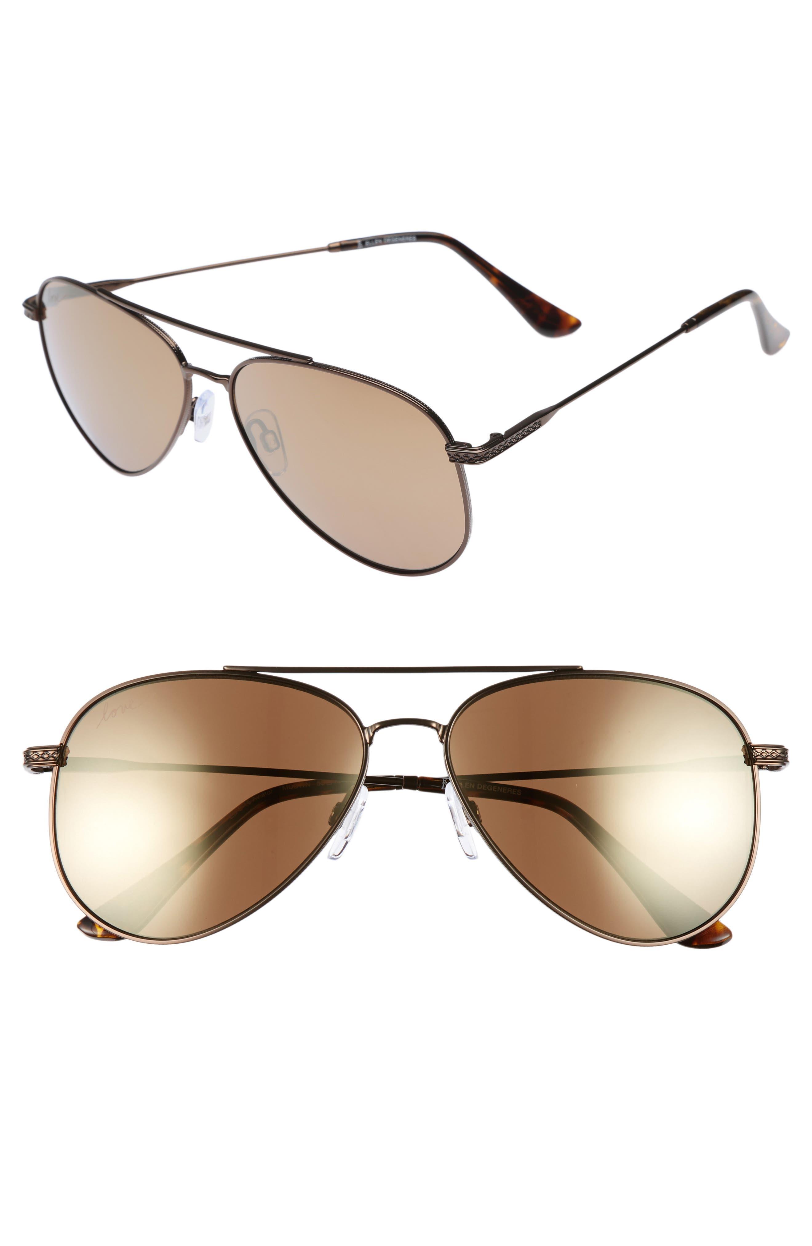 ED Ellen DeGeneres 58mm Aviator Sunglasses