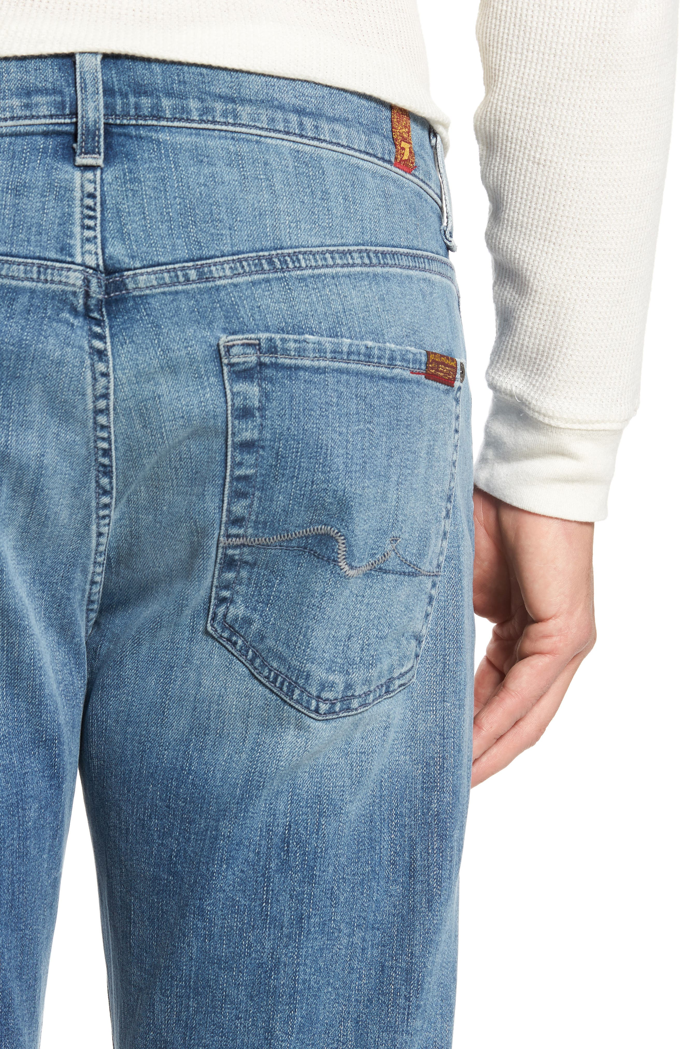 Luxe Performance - Carsen Straight Leg Jeans,                             Alternate thumbnail 4, color,                             Homage