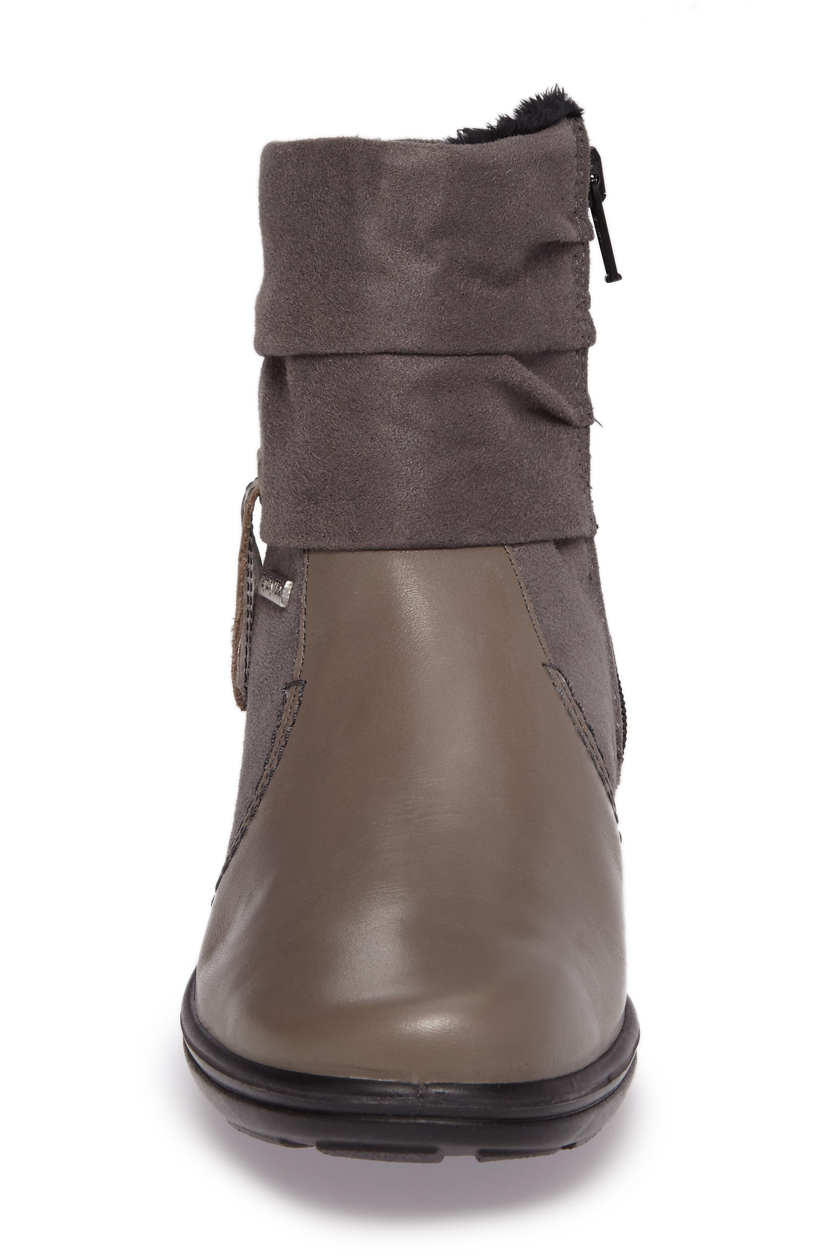 'Cassie 12' Boot,                             Alternate thumbnail 4, color,                             Grey Leather