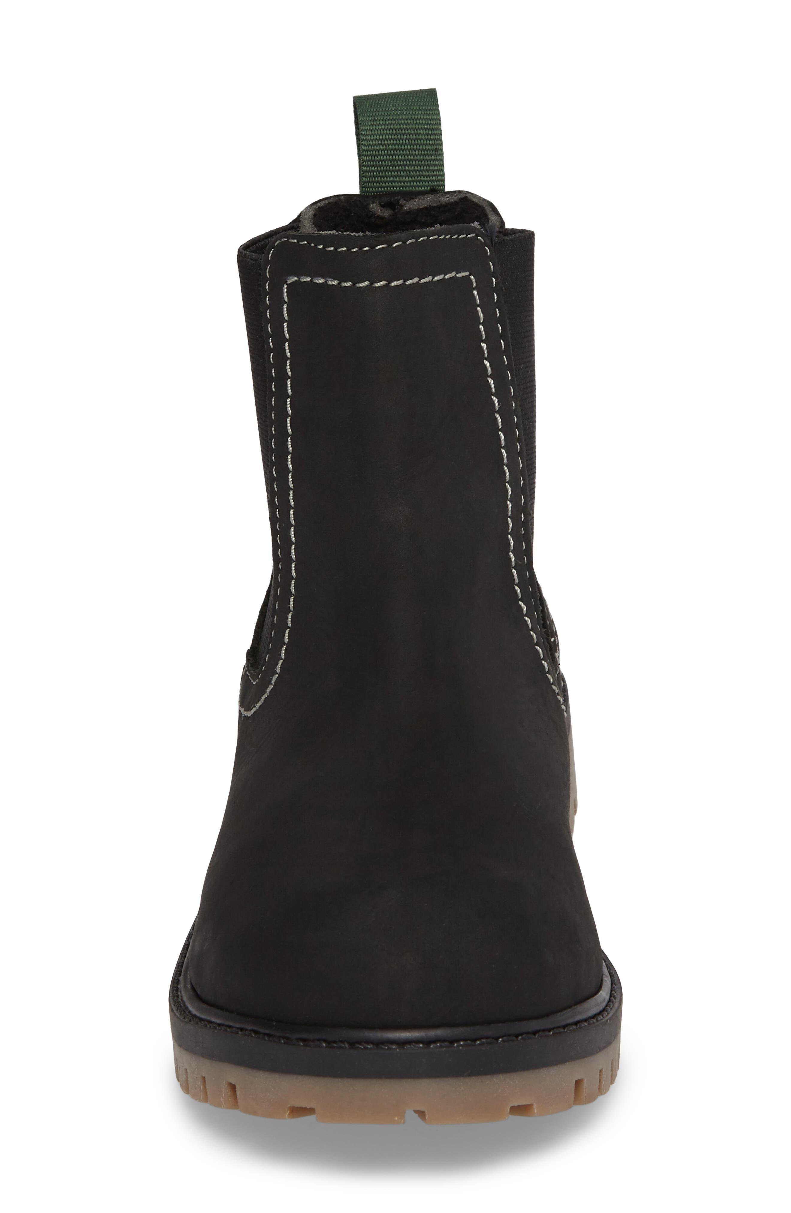 TakodaC Waterproof Chelsea Boot,                             Alternate thumbnail 4, color,                             Black