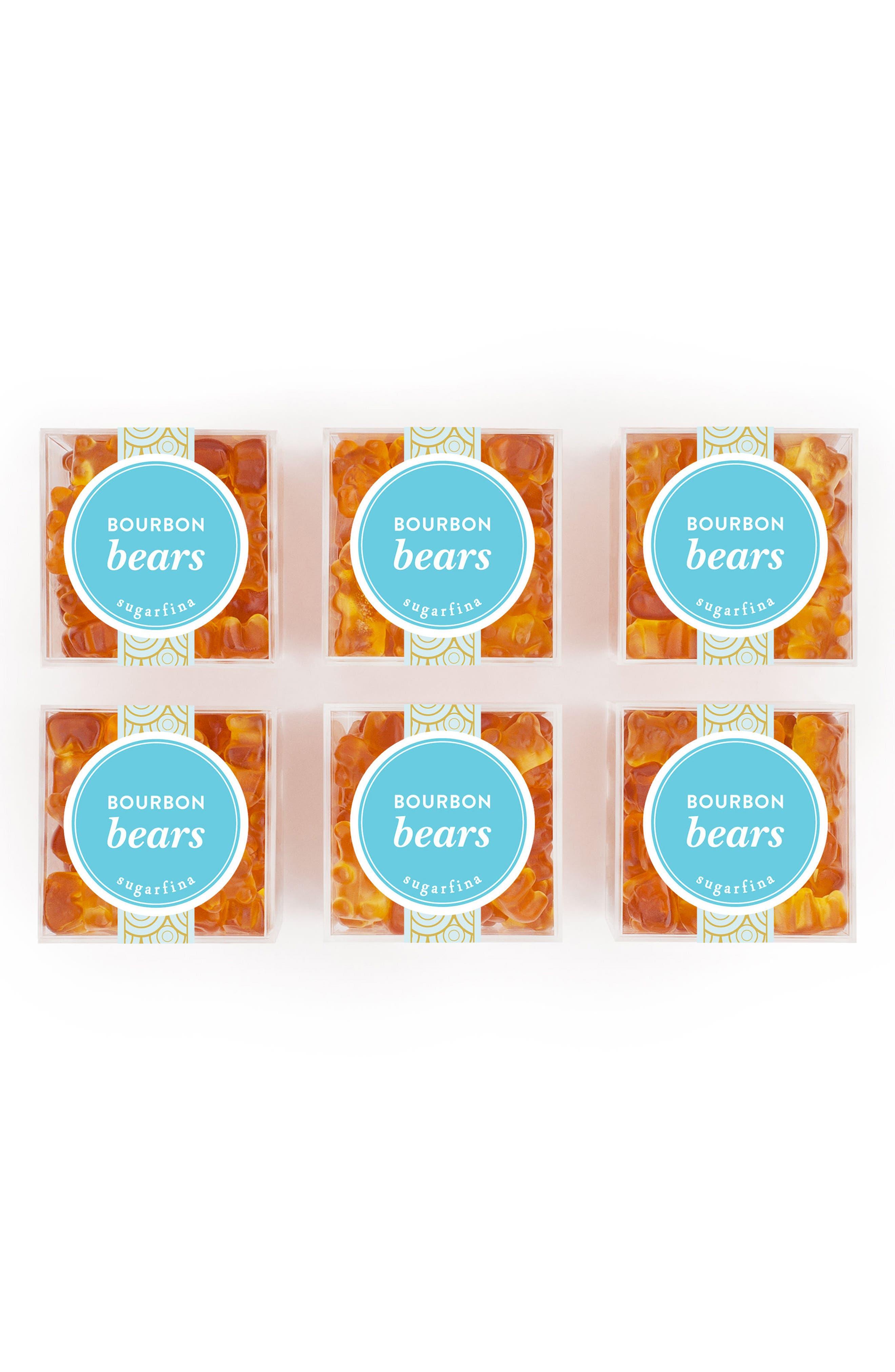 Set of 6 Bourbon Bears Candy Cubes,                         Main,                         color, Orange