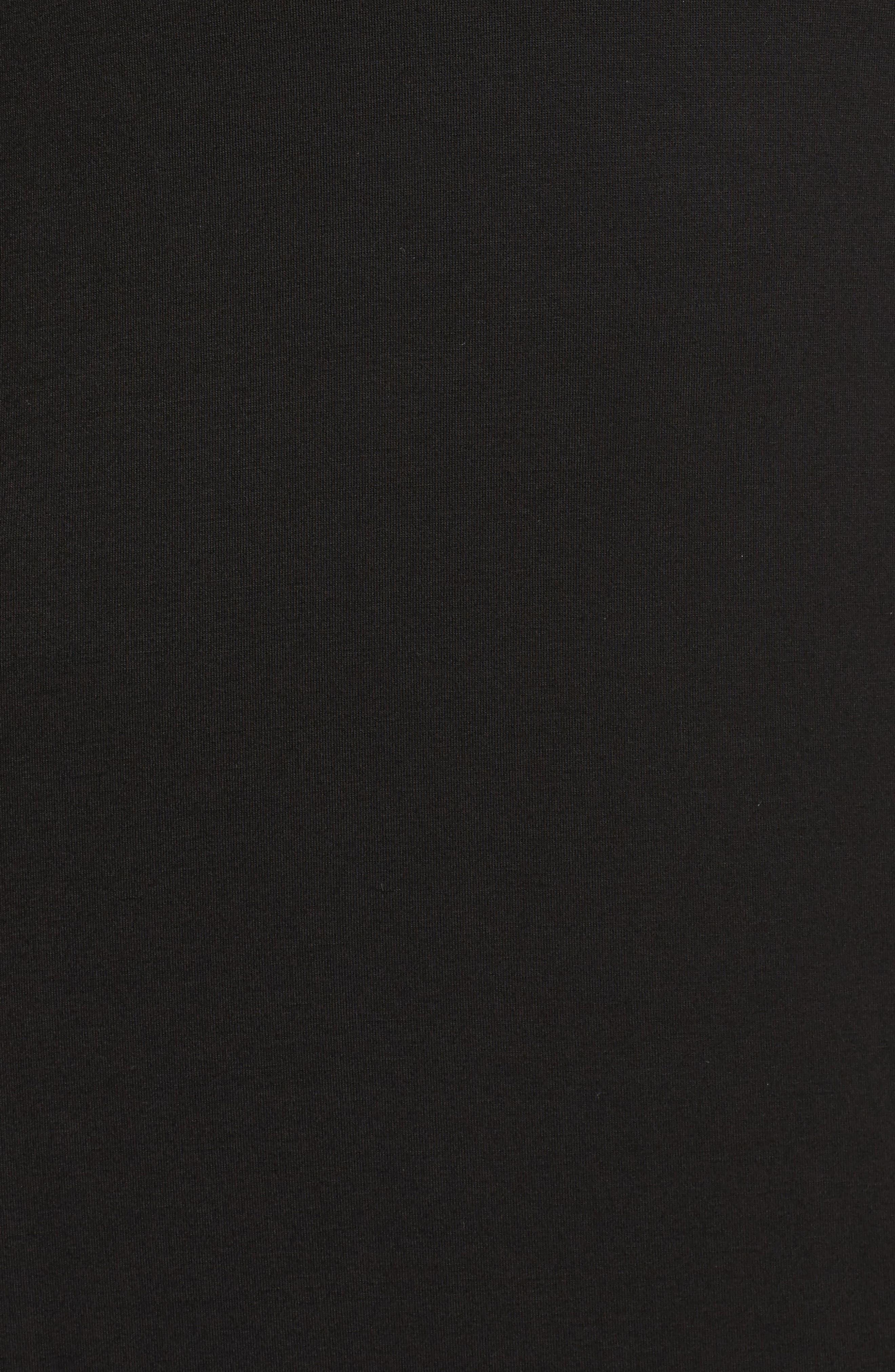 Crisscross Neck T-Shirt Dress,                             Alternate thumbnail 5, color,                             Black