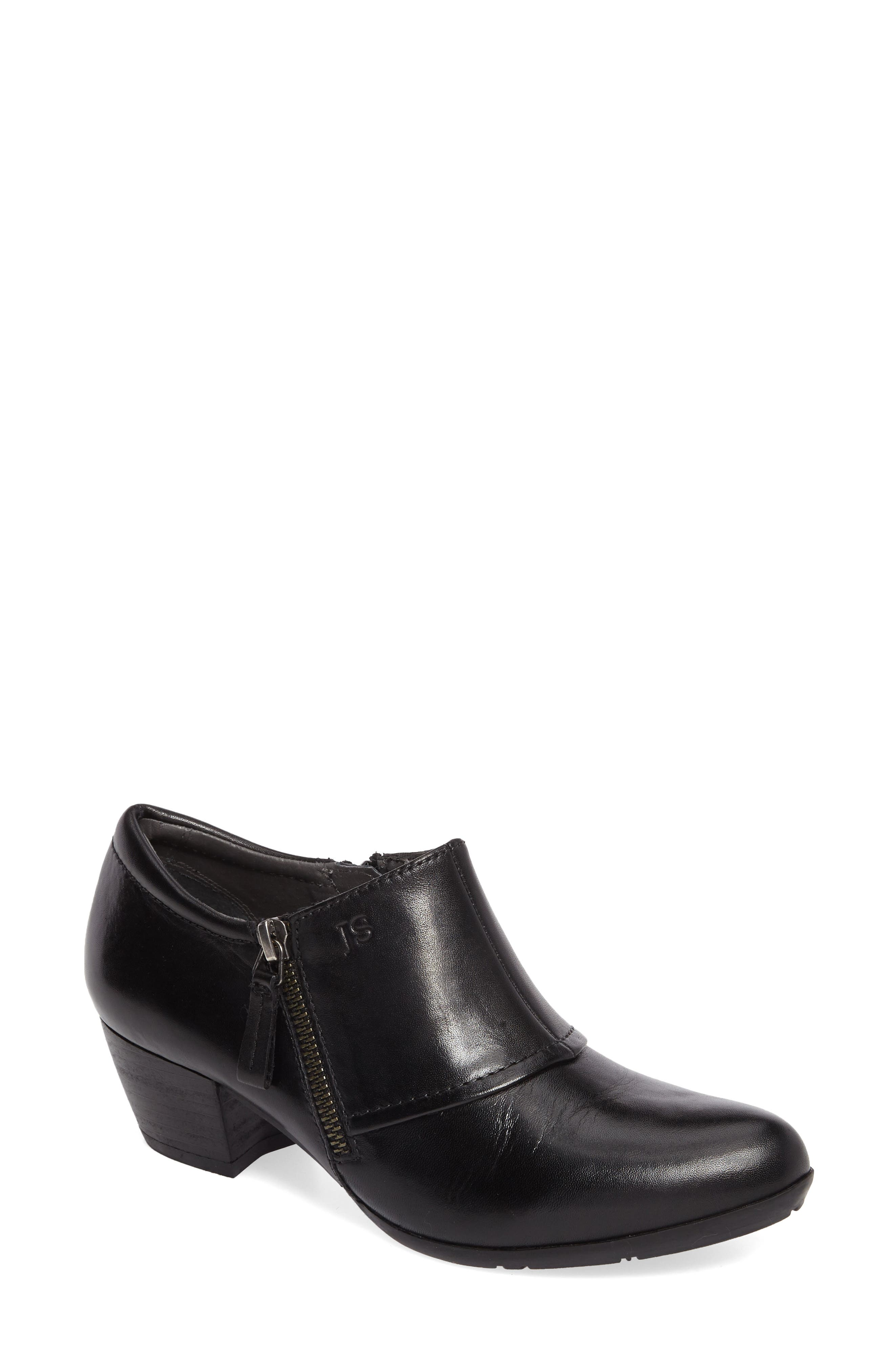 Sue 03 Bootie,                         Main,                         color, Black Leather