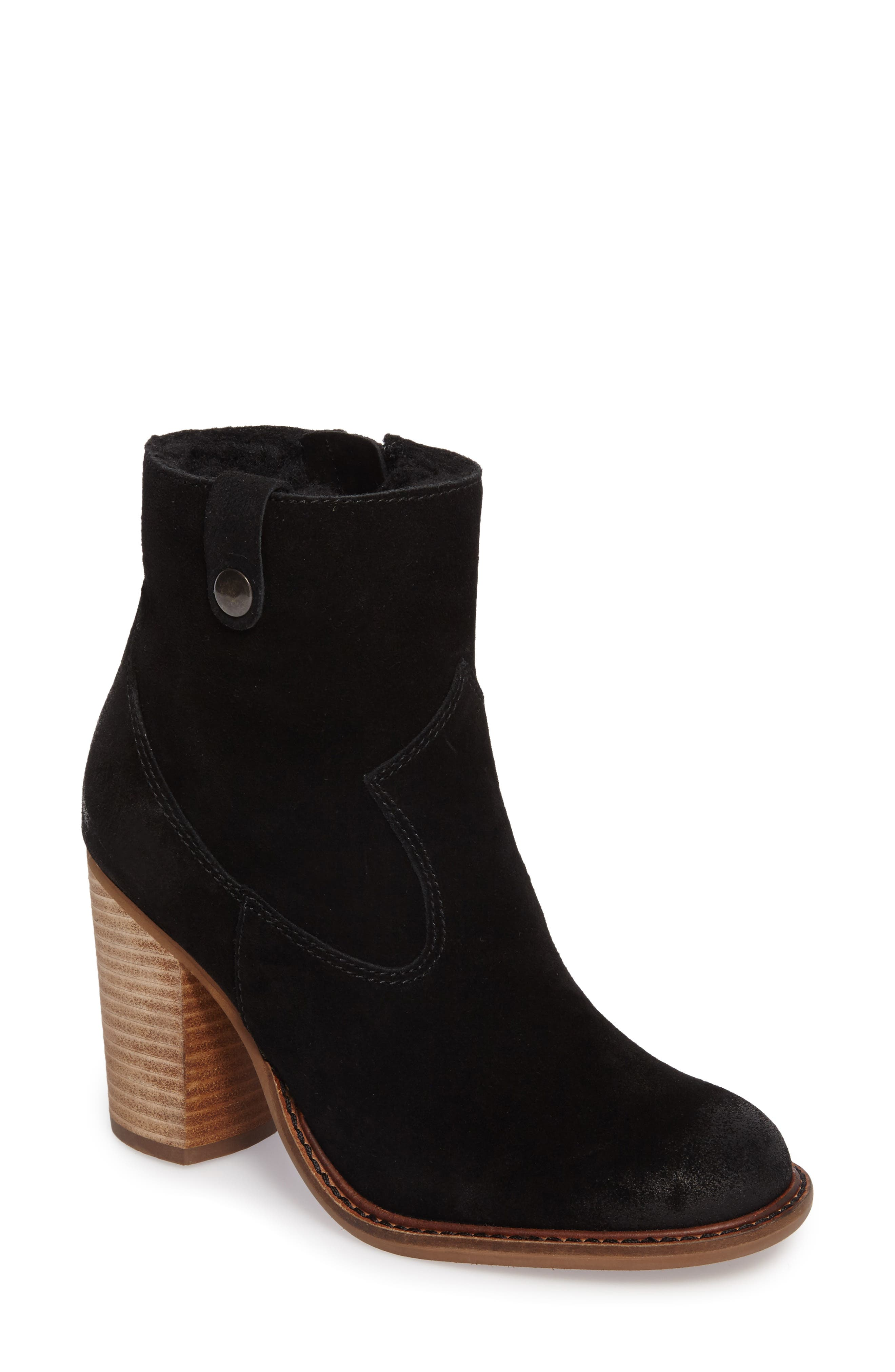 Legion Bootie with Faux Shearling Lining,                             Main thumbnail 1, color,                             Black
