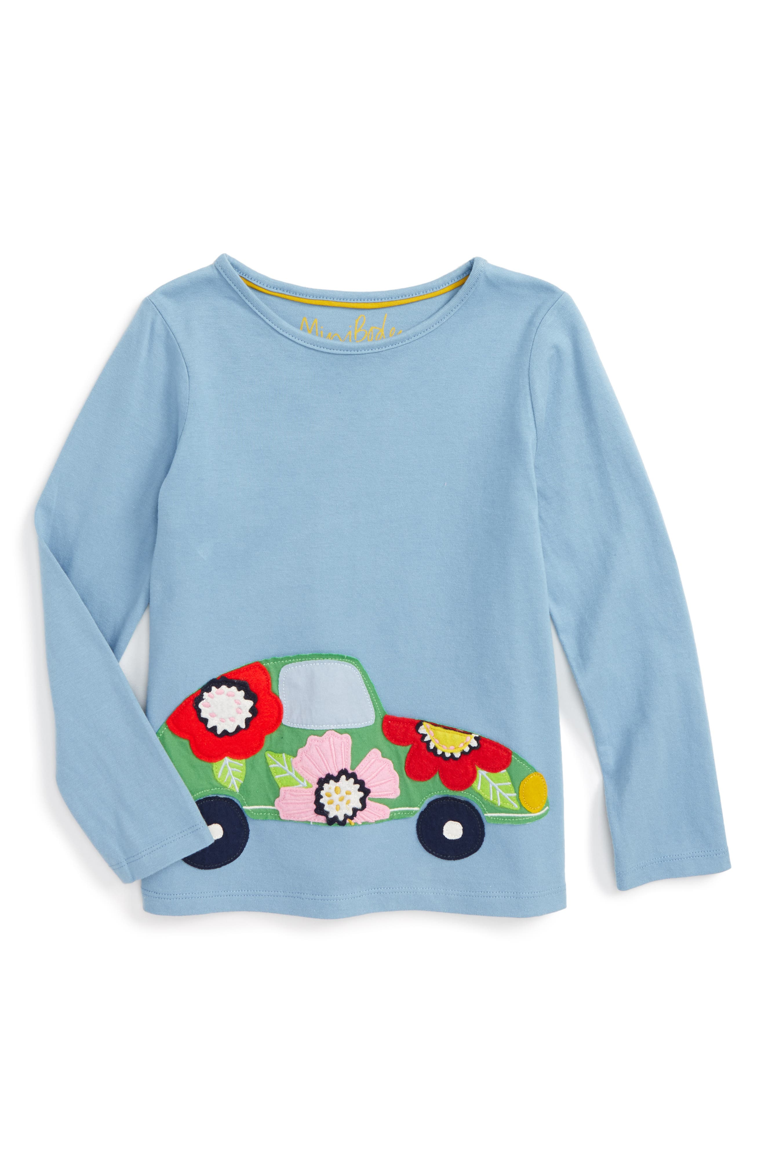 Mini Boden Appliqué Tee (Toddler Girls, Little Girls & Big Girls)