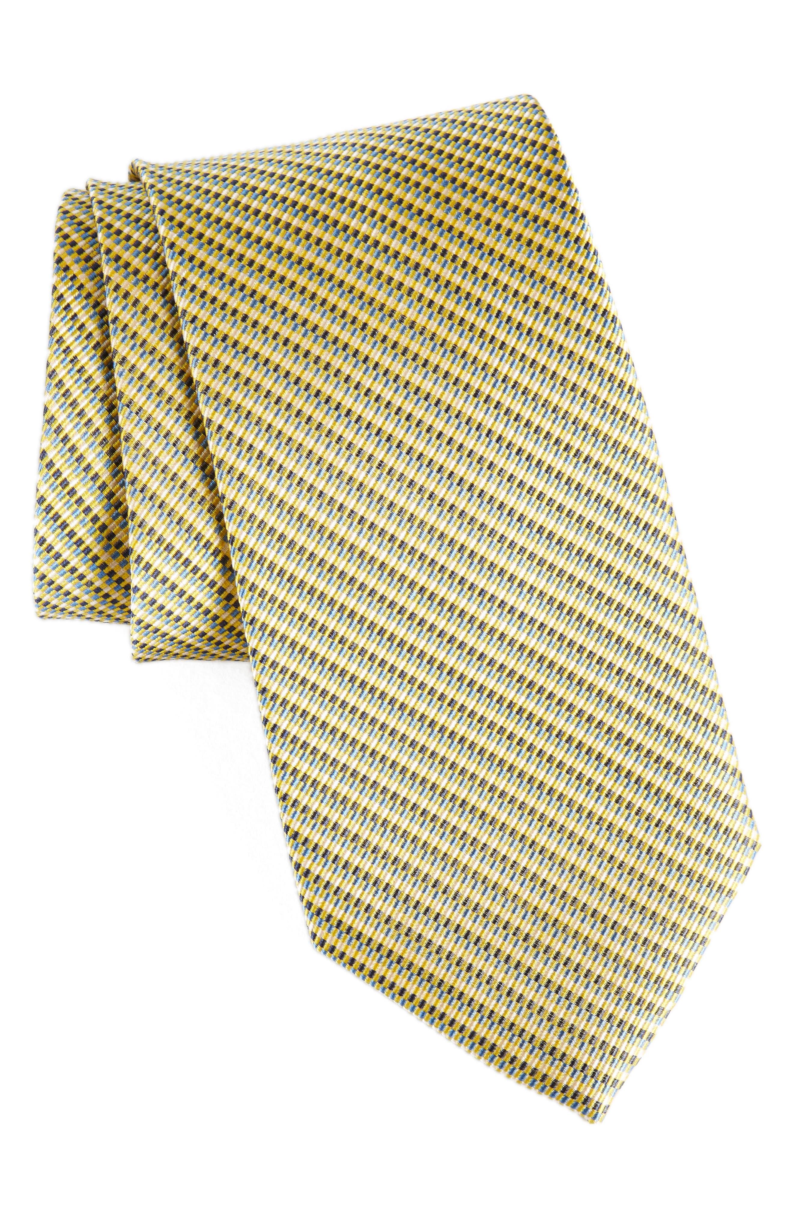 Nordstrom Men's Shop Textured Tracks Silk Tie (X-Long)
