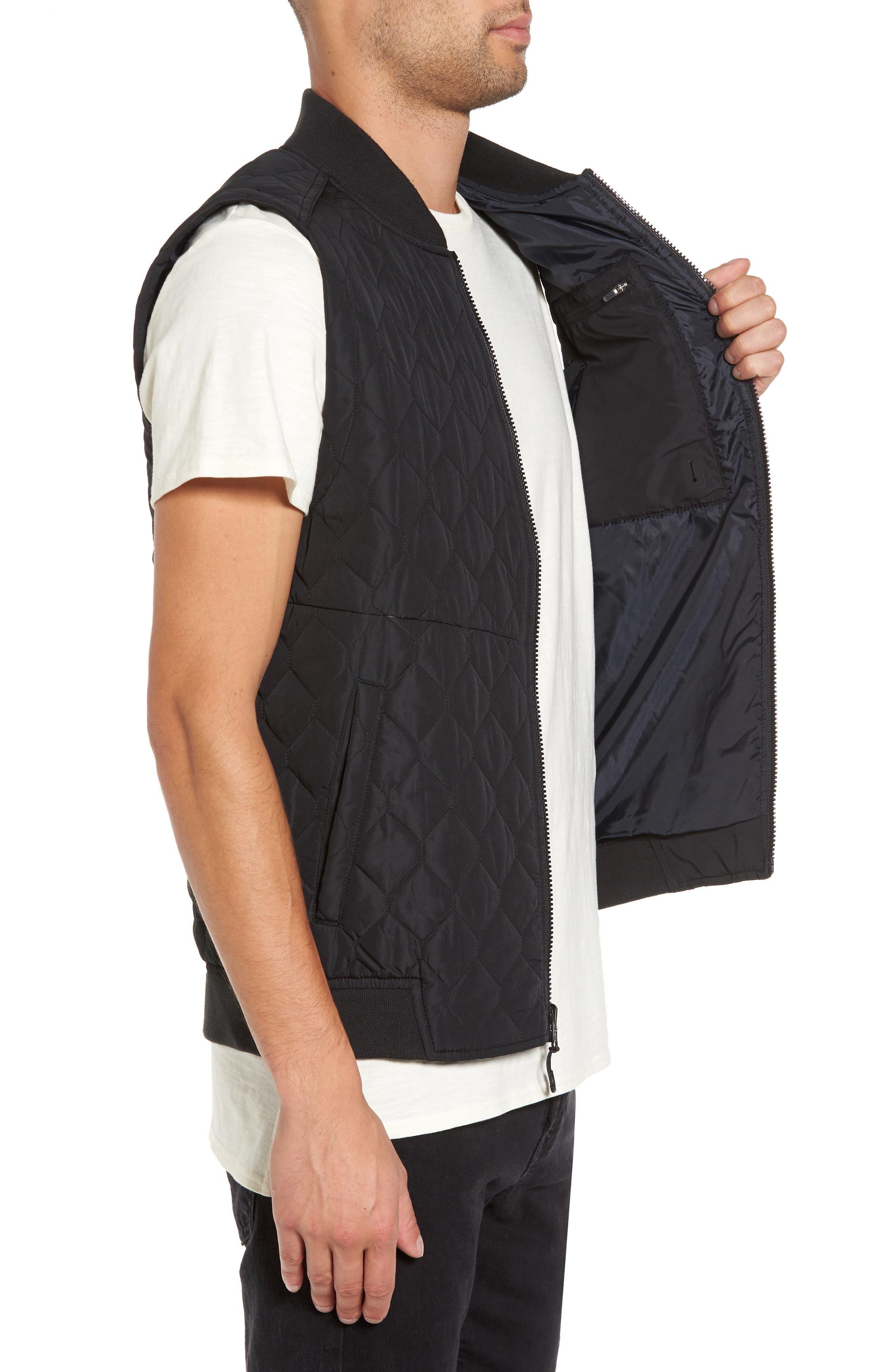 Replicant Quilted Vest,                             Alternate thumbnail 3, color,                             Black