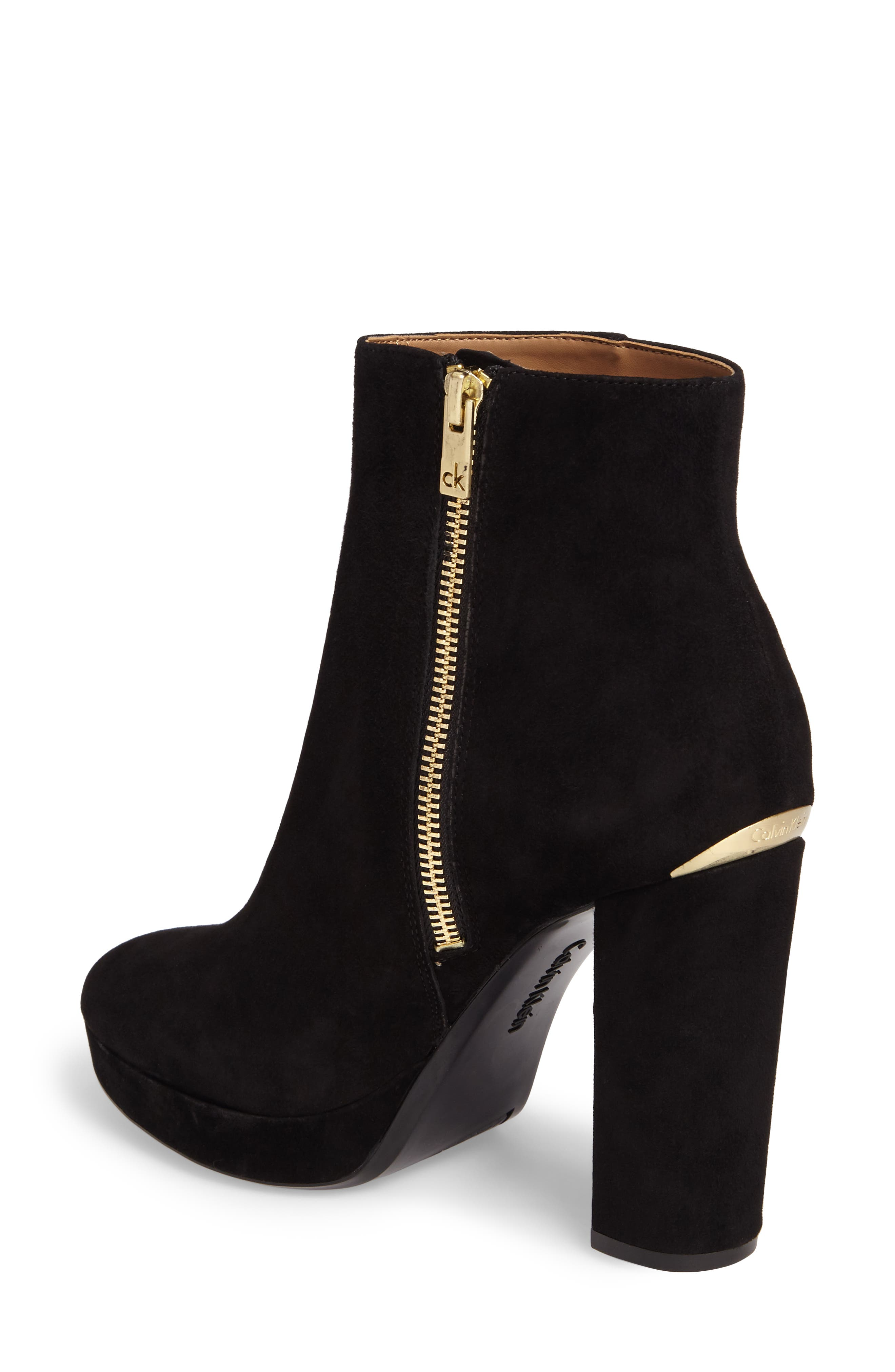 Martha Bootie,                             Alternate thumbnail 2, color,                             Black Suede