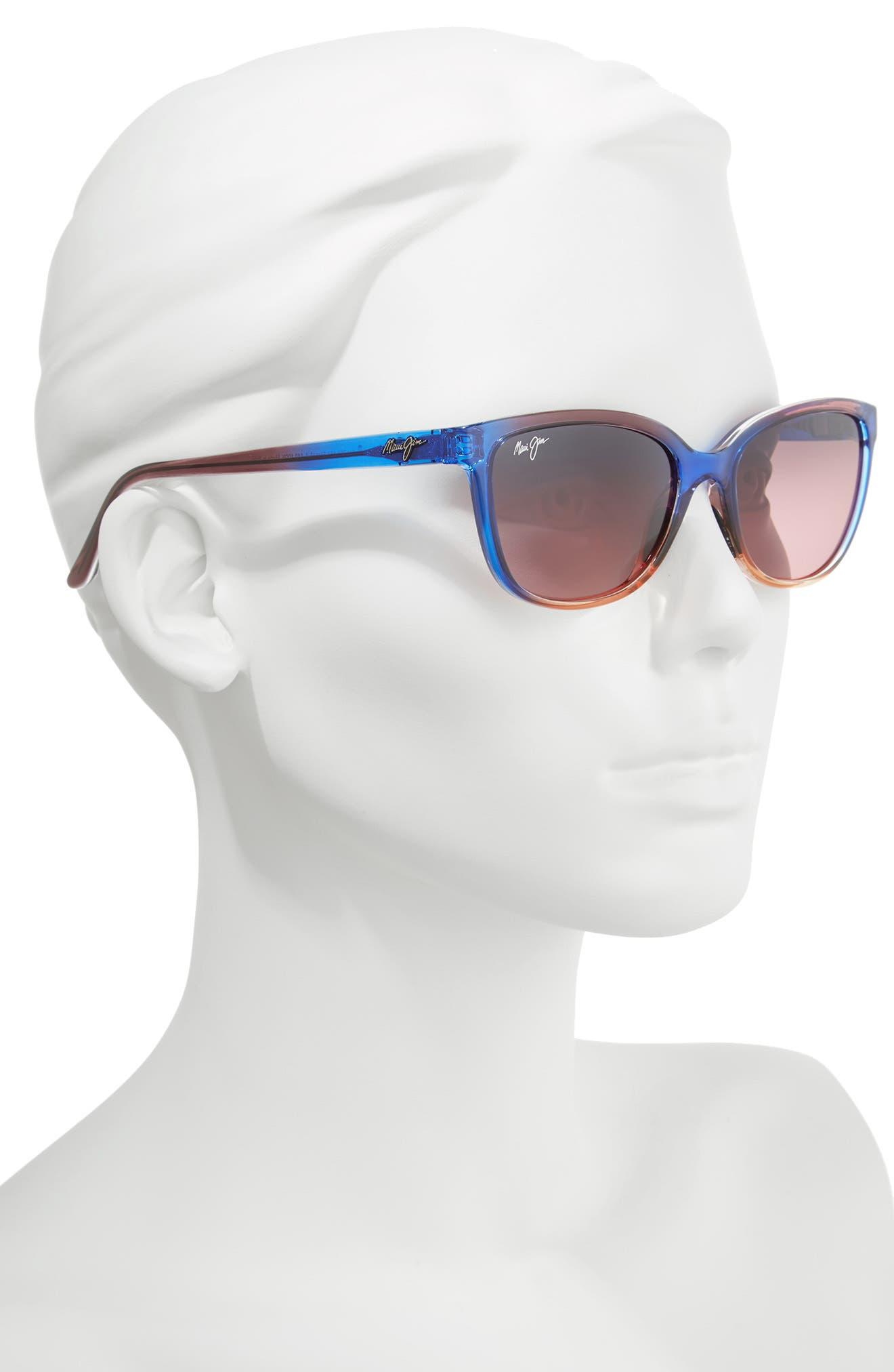 Honi 54mm Polarized Cat Eye Sunglasses,                             Alternate thumbnail 2, color,                             Sunset/ Maui Rose