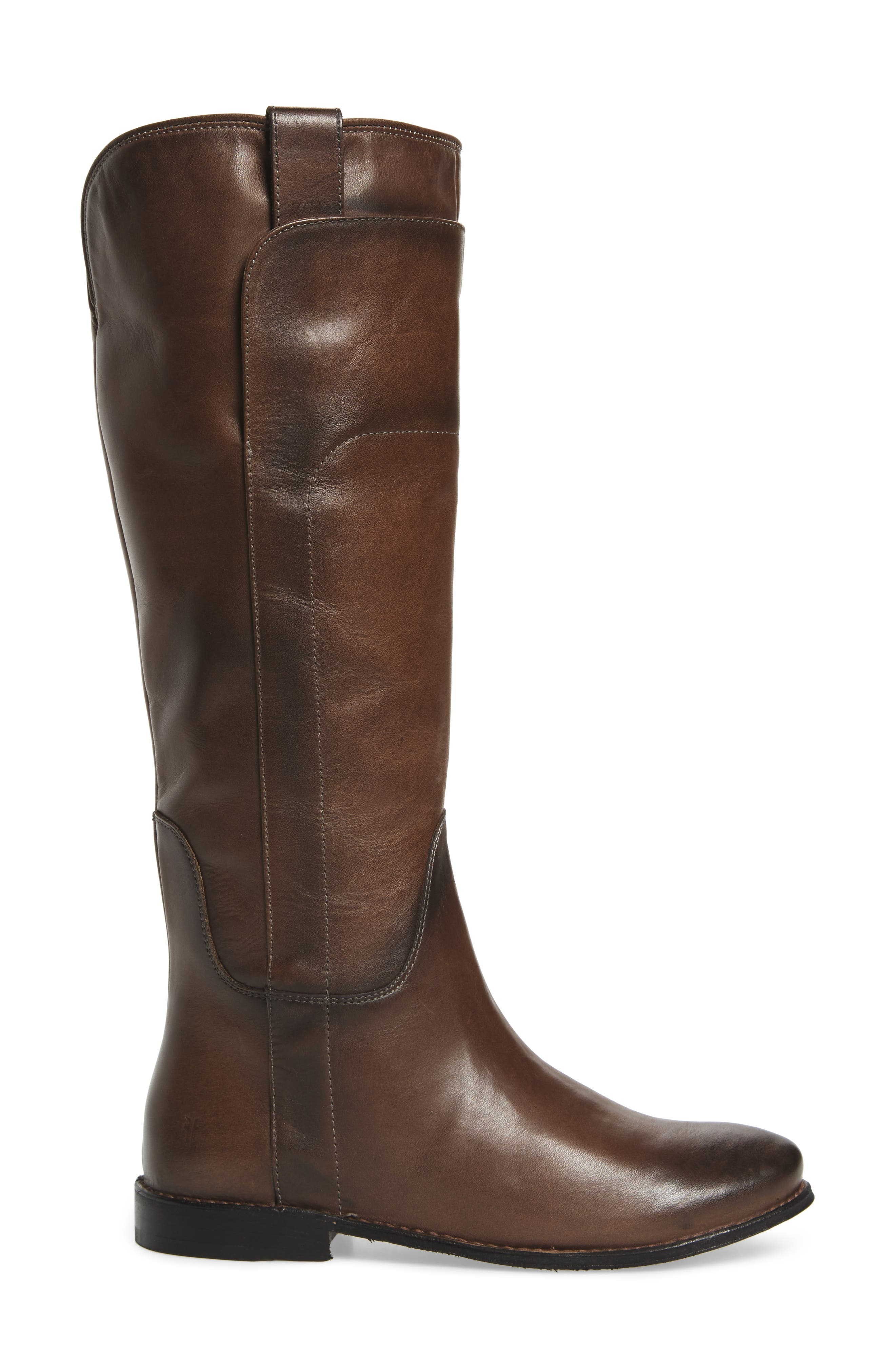 Paige Tall Riding Boot,                             Alternate thumbnail 3, color,                             Smoke